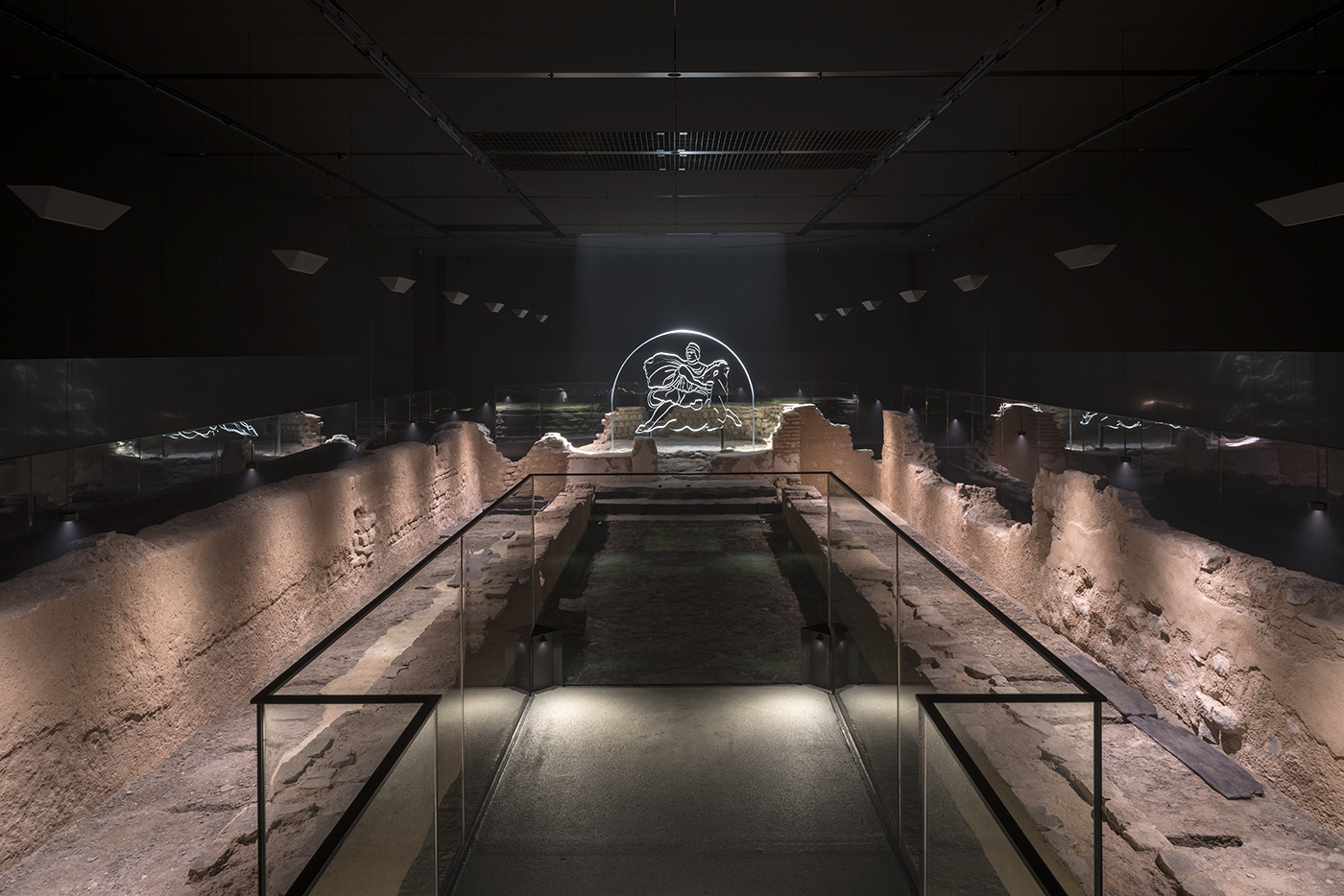 London Mithraeum is a faithful reconstruction of the Temple of Mithras as it stood on this site nearly two thousand years ago