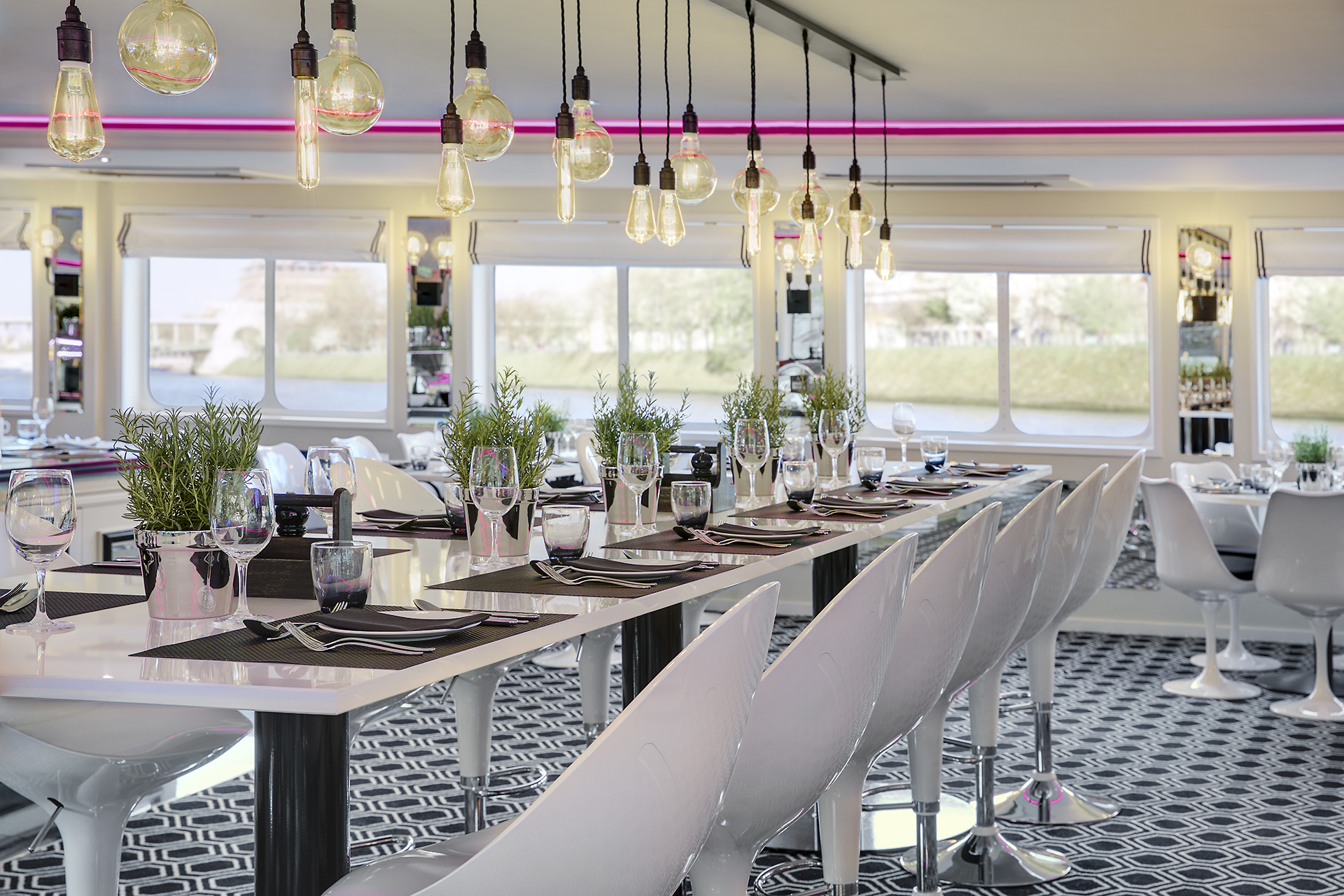 The cruises offer farm-to-table cuisine at communal dining spaces, as well as yoga and painting classes.
