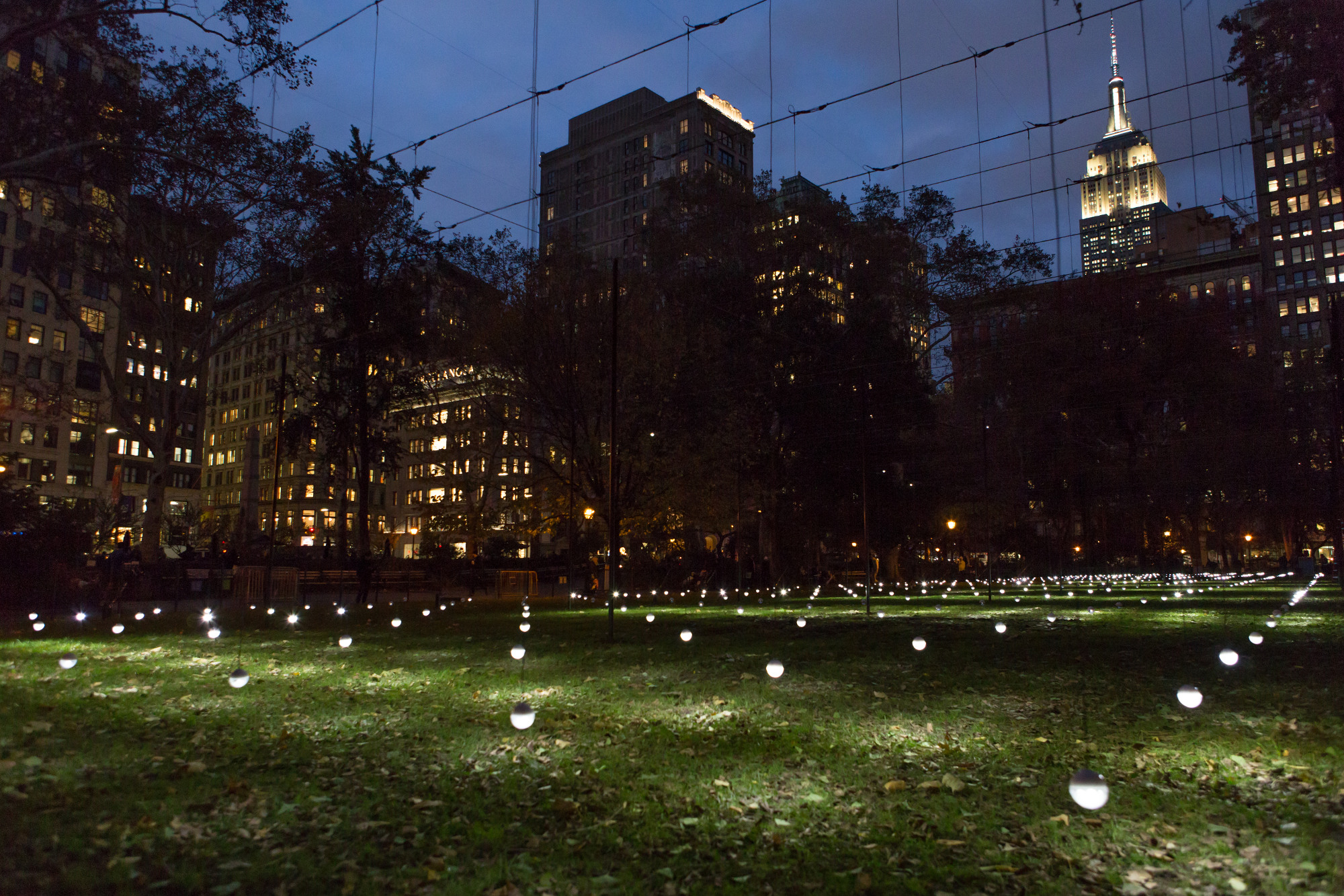 'Whiteout' in Madison Square Park