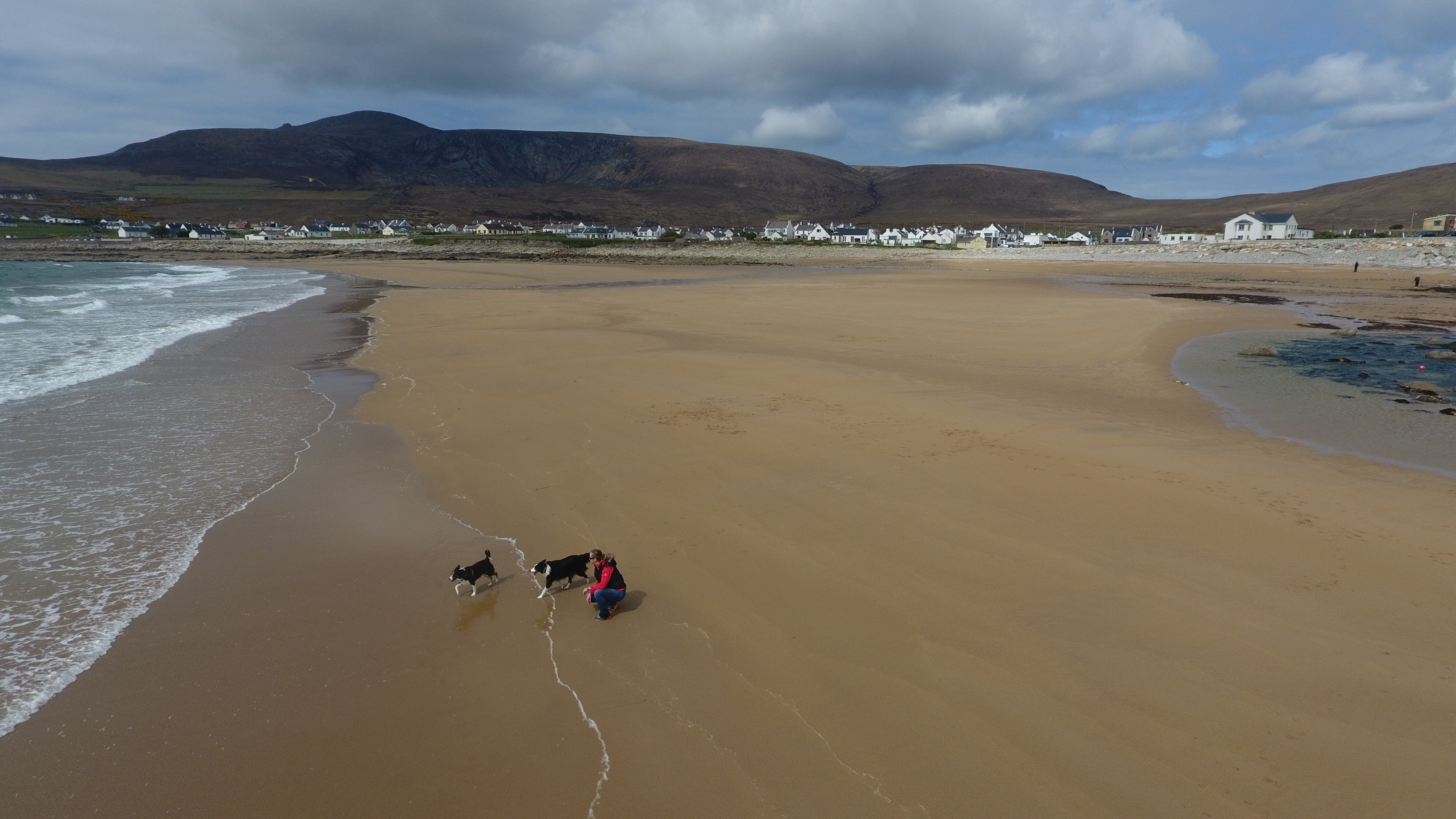 Dooagh beach on Achill Island was washed away 33 years ago but reappeared earlier this year.