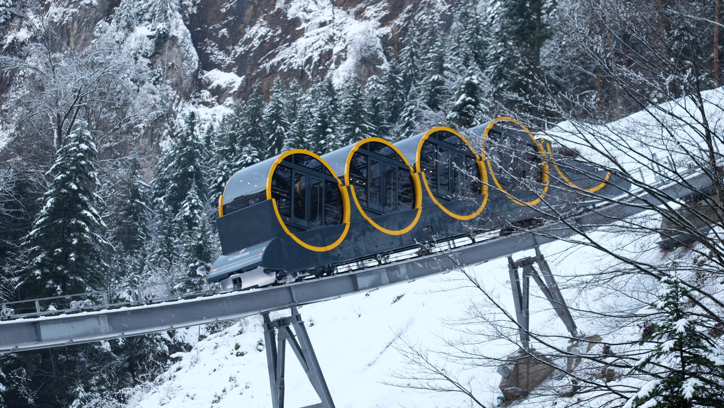 The new attraction has broken the record for steepest funicular in the world.