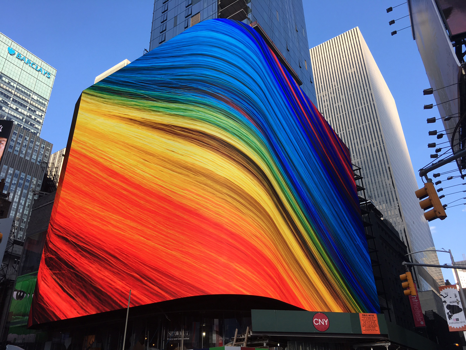 20 Times Square, featuring the most high resolution display ever seen at the iconic location.