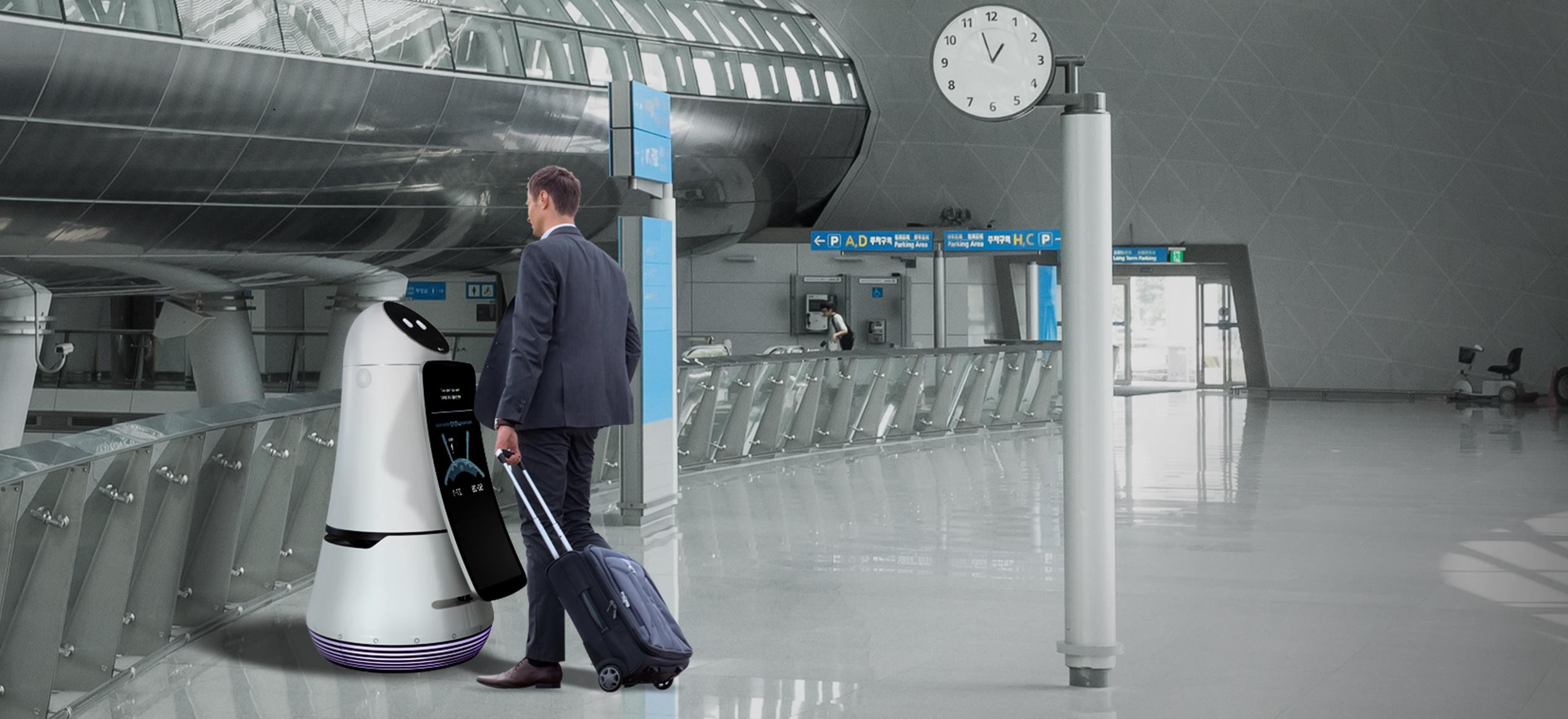 The robots portray flight details and the estimated travel time to boarding gates, as well as assisting passengers that need more information such as shop locations.