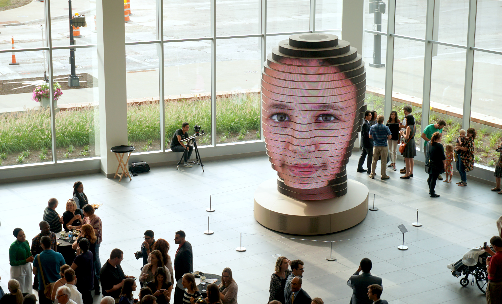 As We Were utilises groundbreaking technology to create a gigantic digital sculpture of visitors.