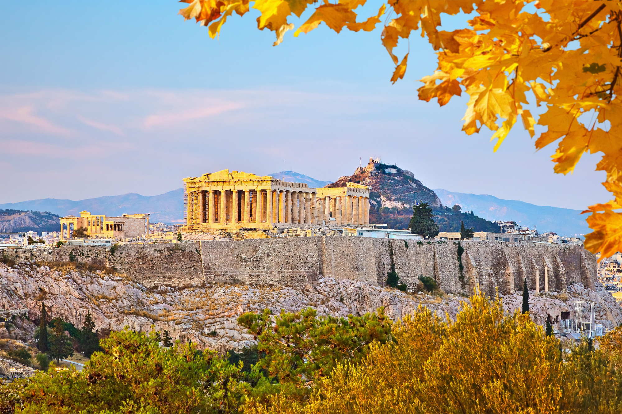 The Acropolis of Athens in Autumn.