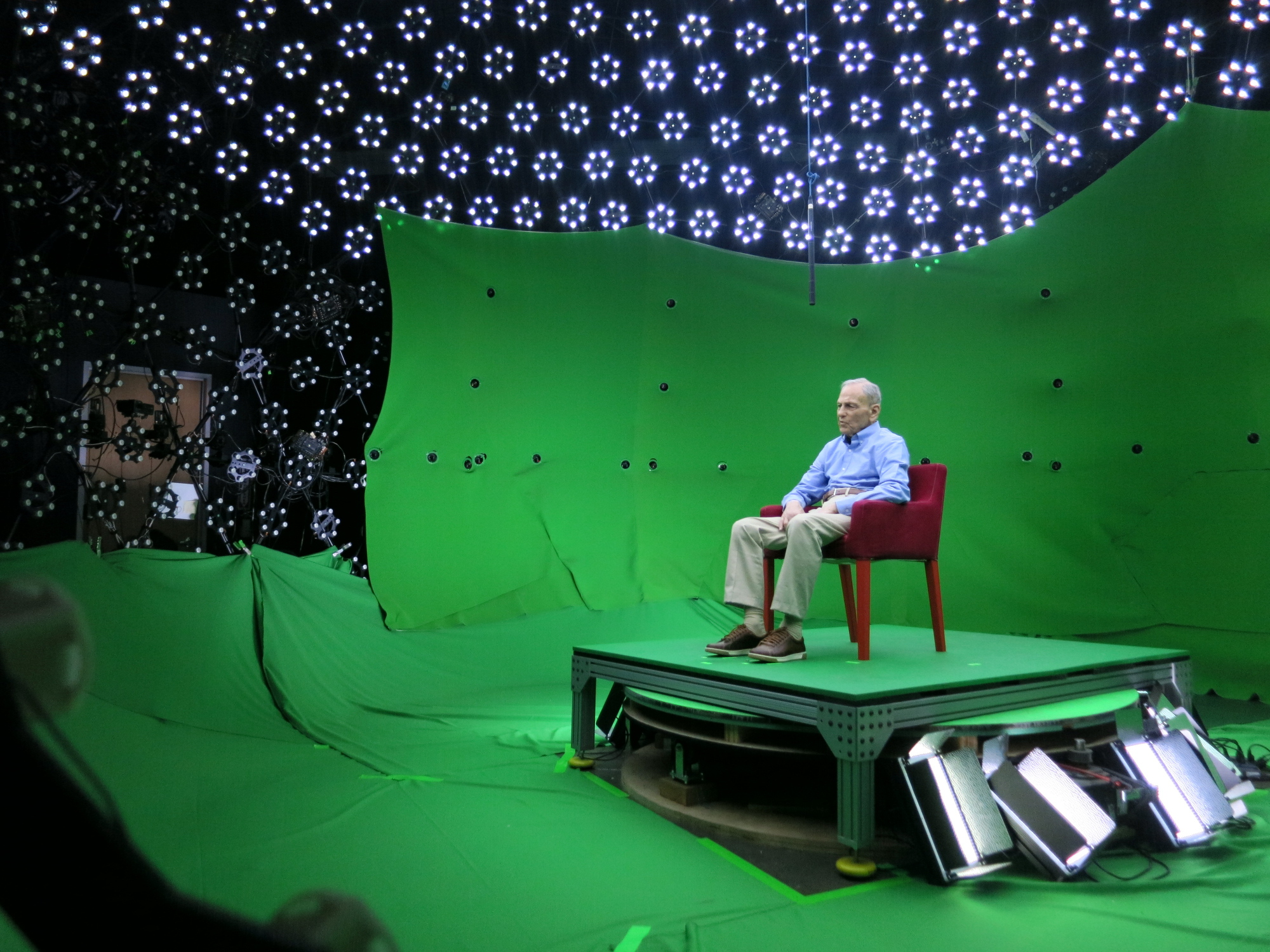 Thirteen Holocaust survivors from around the world were interviewed and recorded for the project.