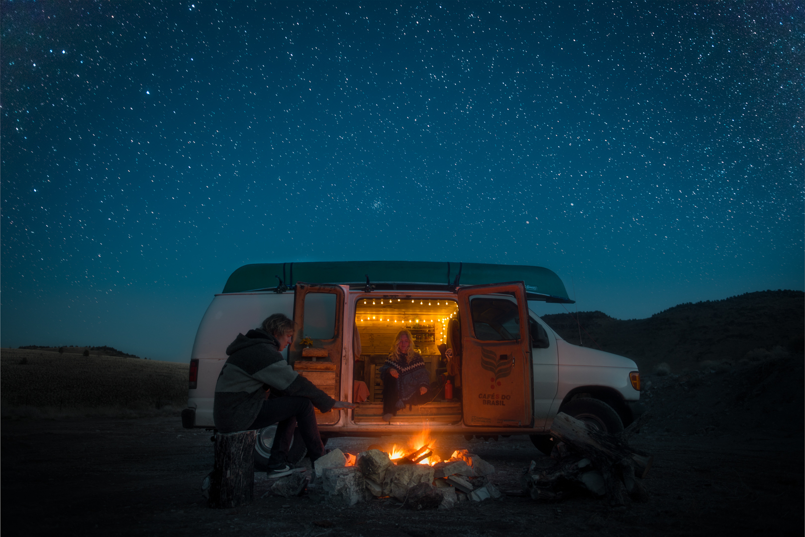 The couple take their van around North America and document it in stunning photograph.