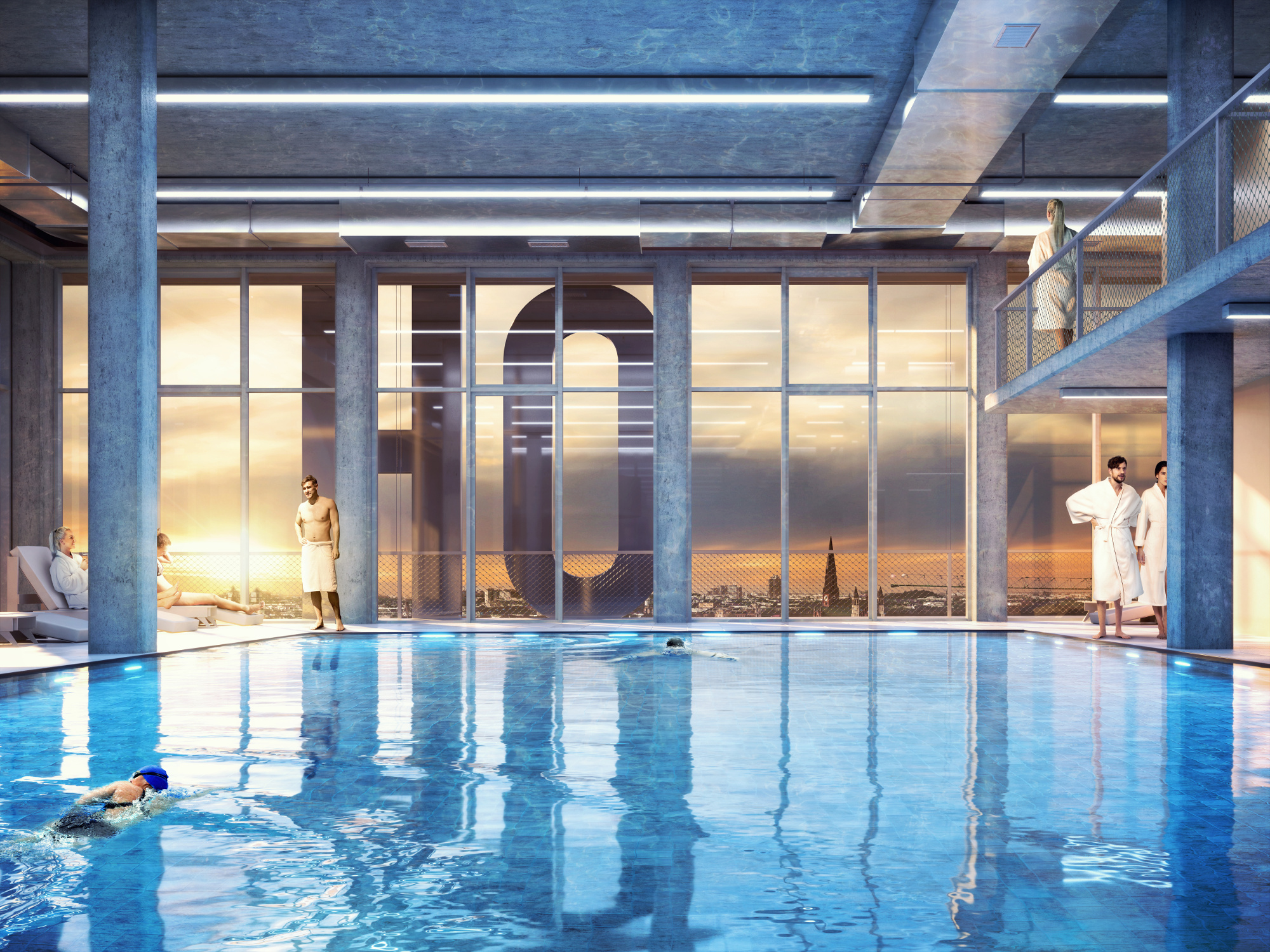 As well as office spaces, the development will also feature a high-end health club, several bars and restaurants.