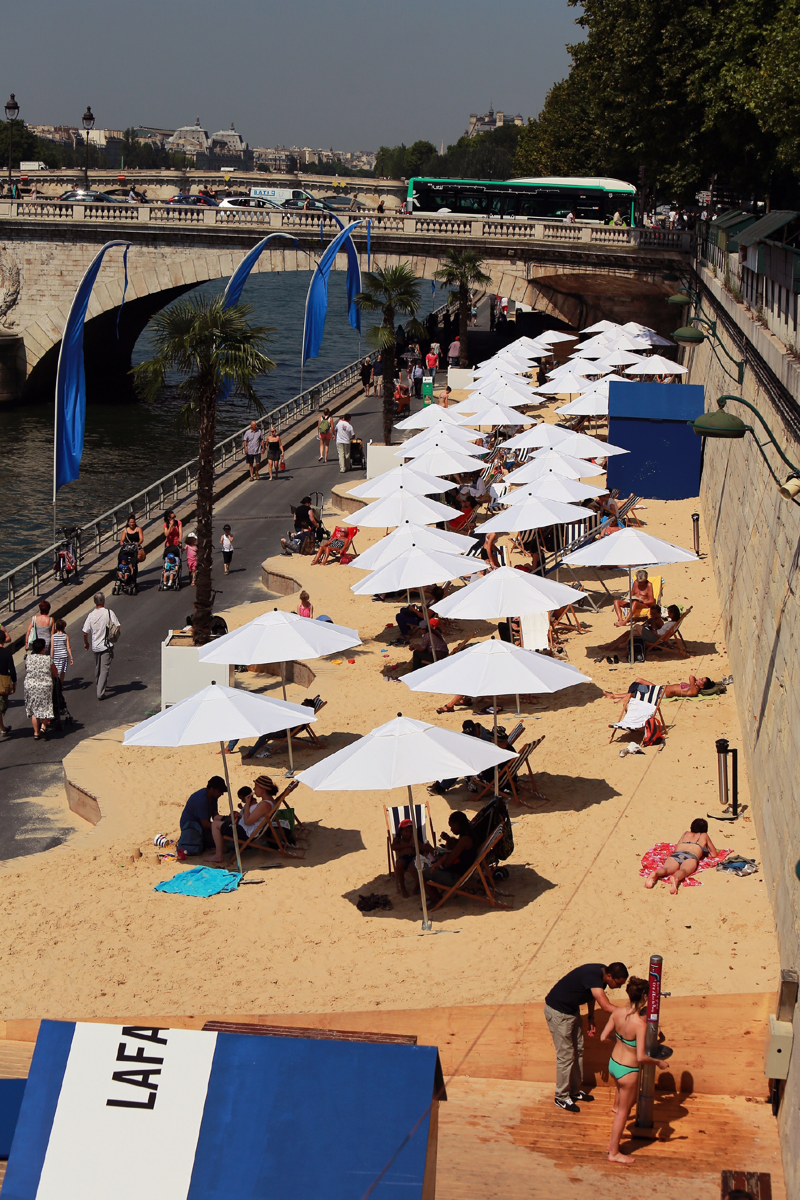 The project is inspired by the Paris Plages, which sees temporary beaches being installed along The Seine in summer.