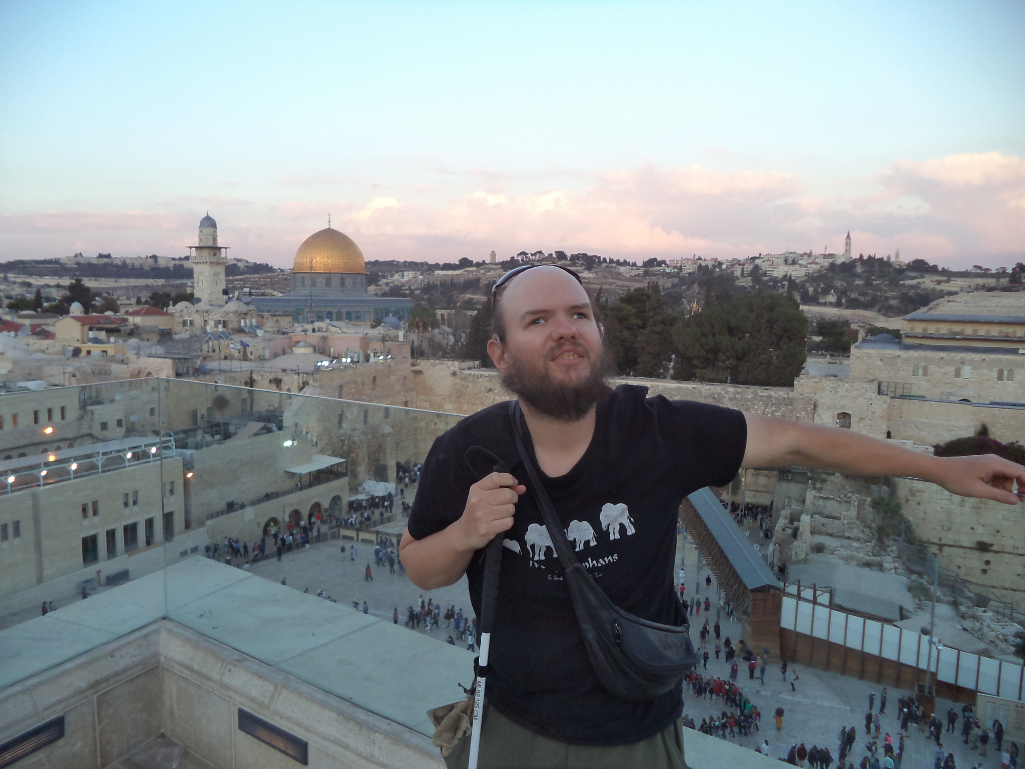 Tony at The Western Wall in Jerusalem.