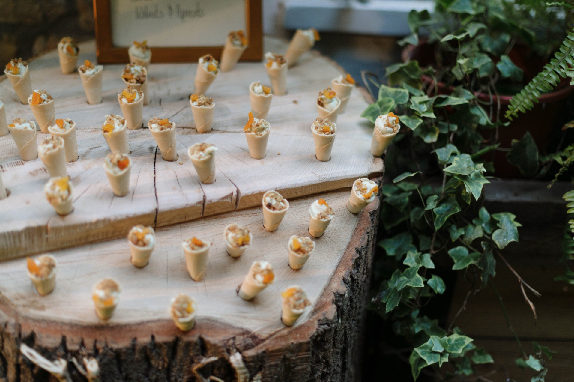 Cone Canapé's from A Banquet at Toad Hall held earlier this year.