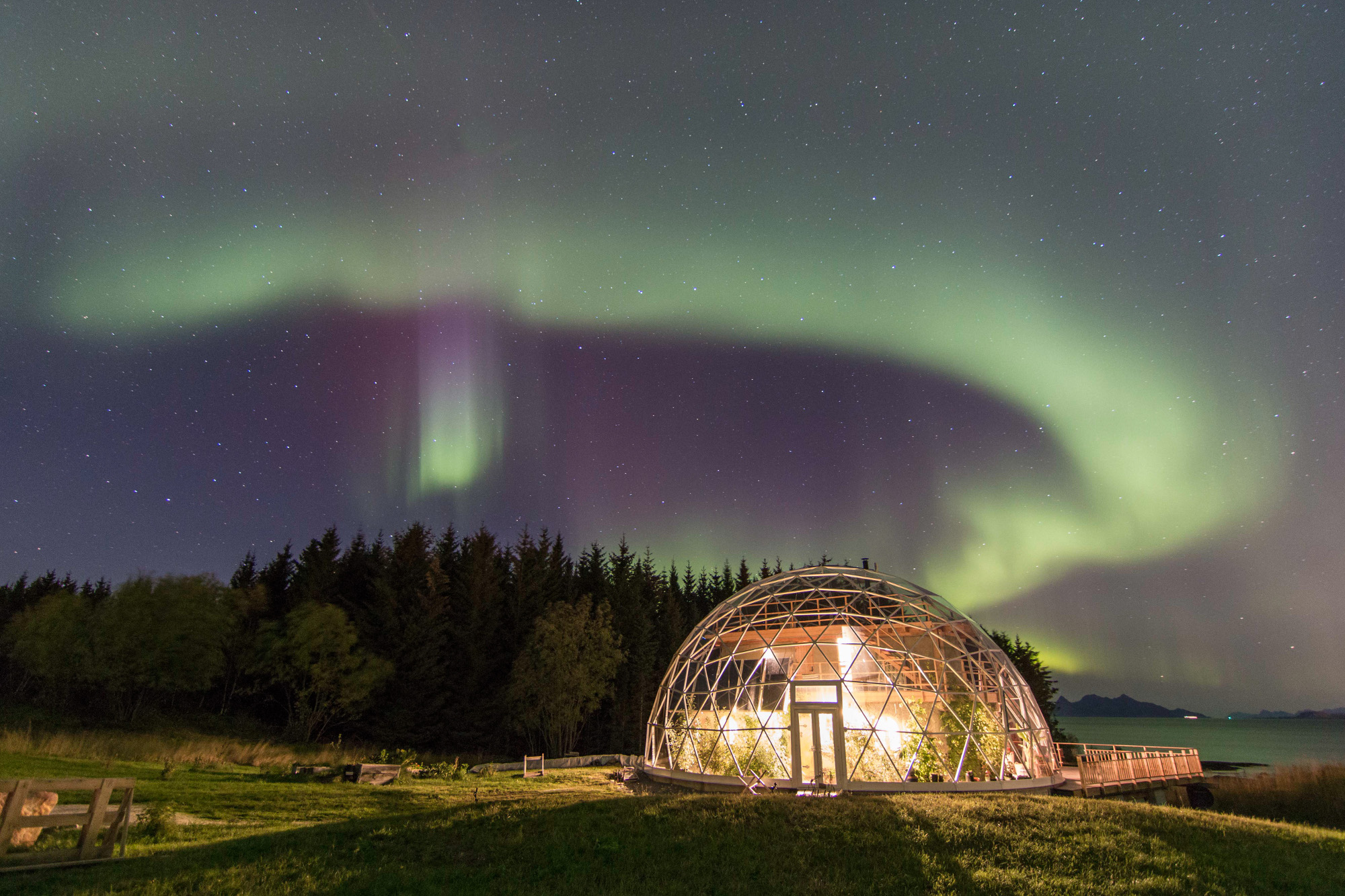 Eco igloo home in northern Norway