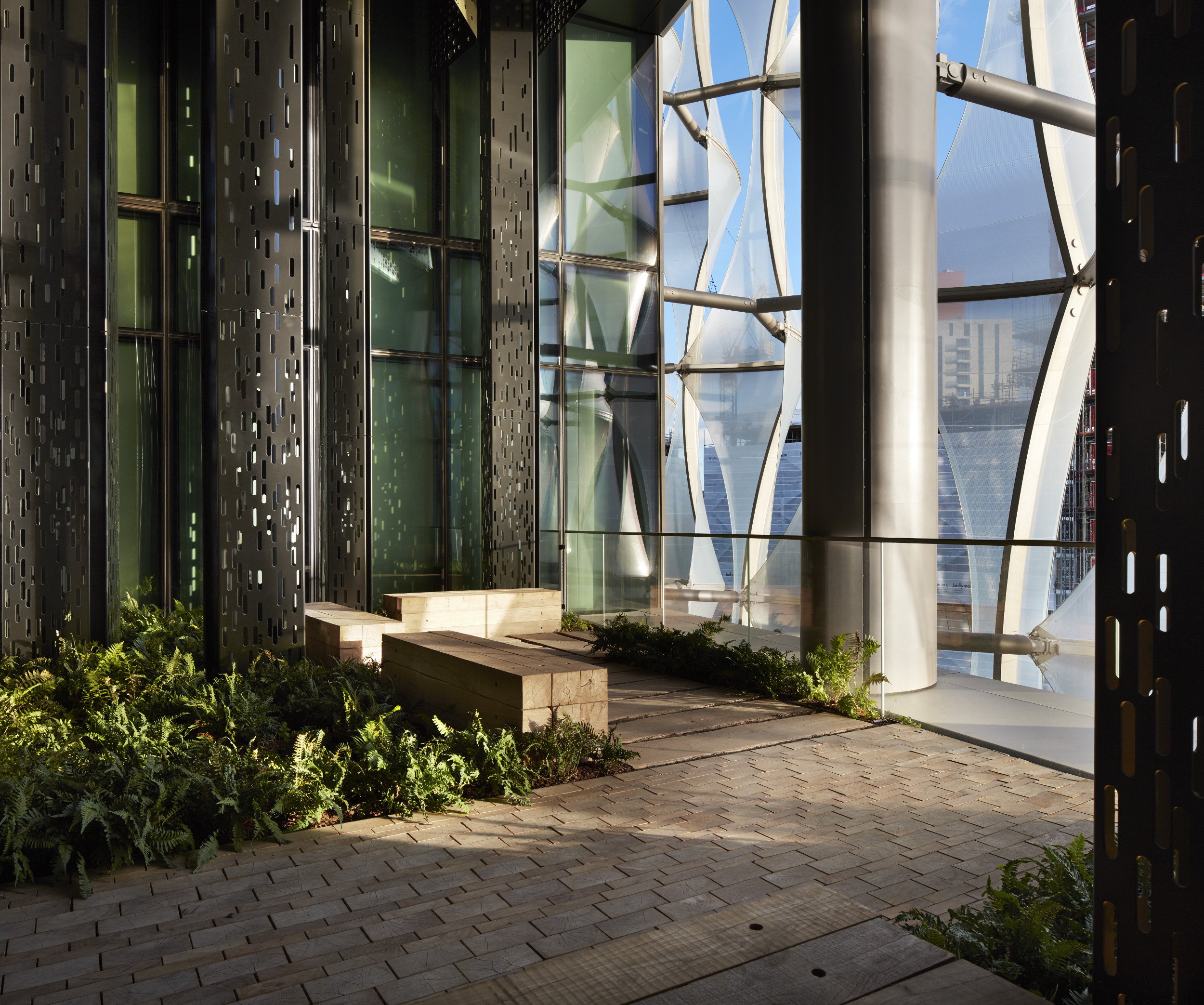 The Pacific Forest Garden at the embassy.