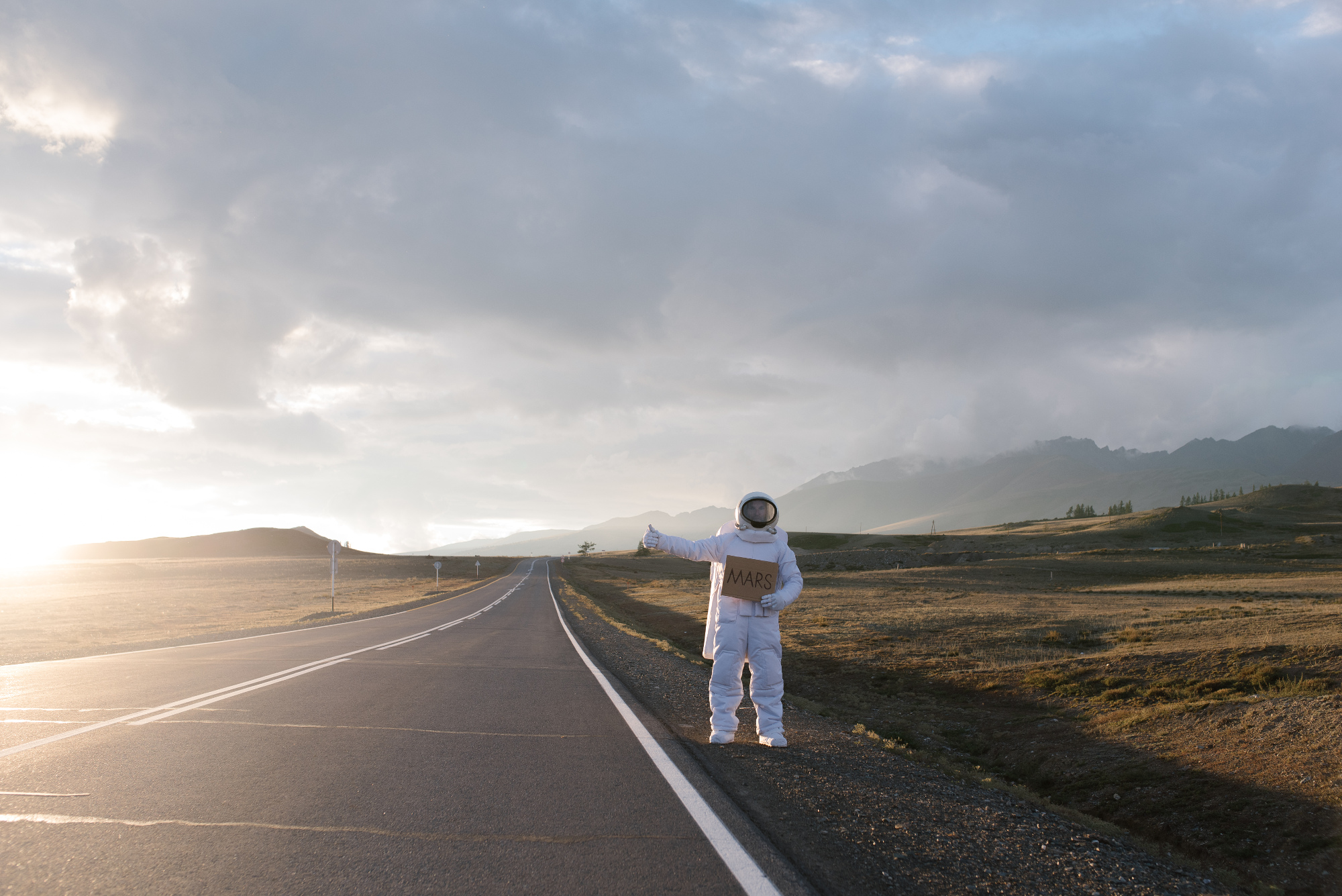 The 'lost astronaut' hitch-hiking
