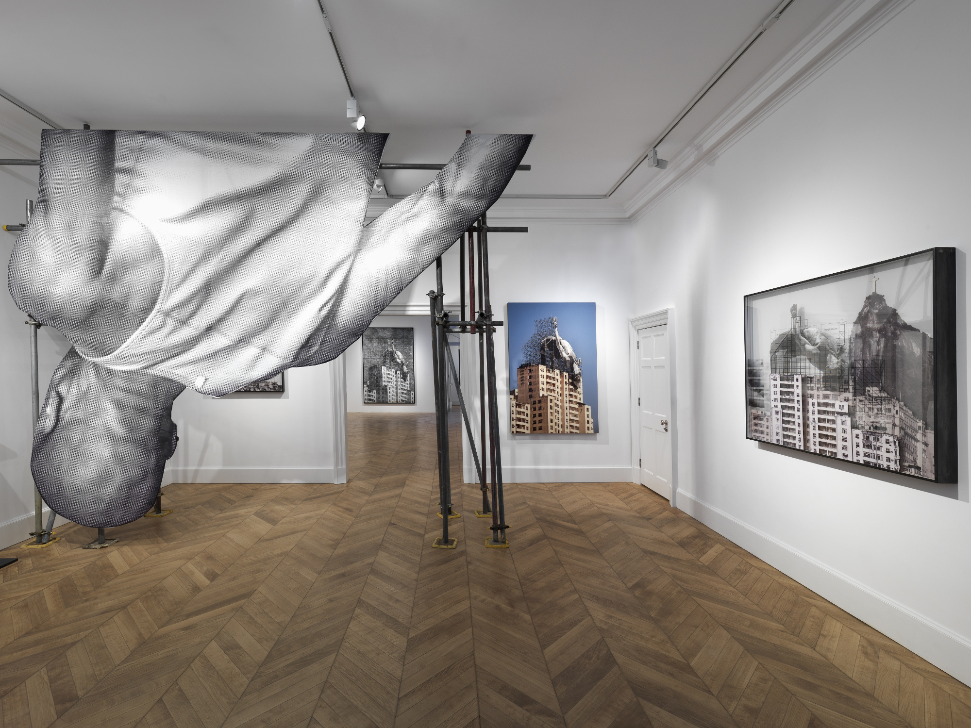 A view of the Giant exhibition at Lazinc Gallery.