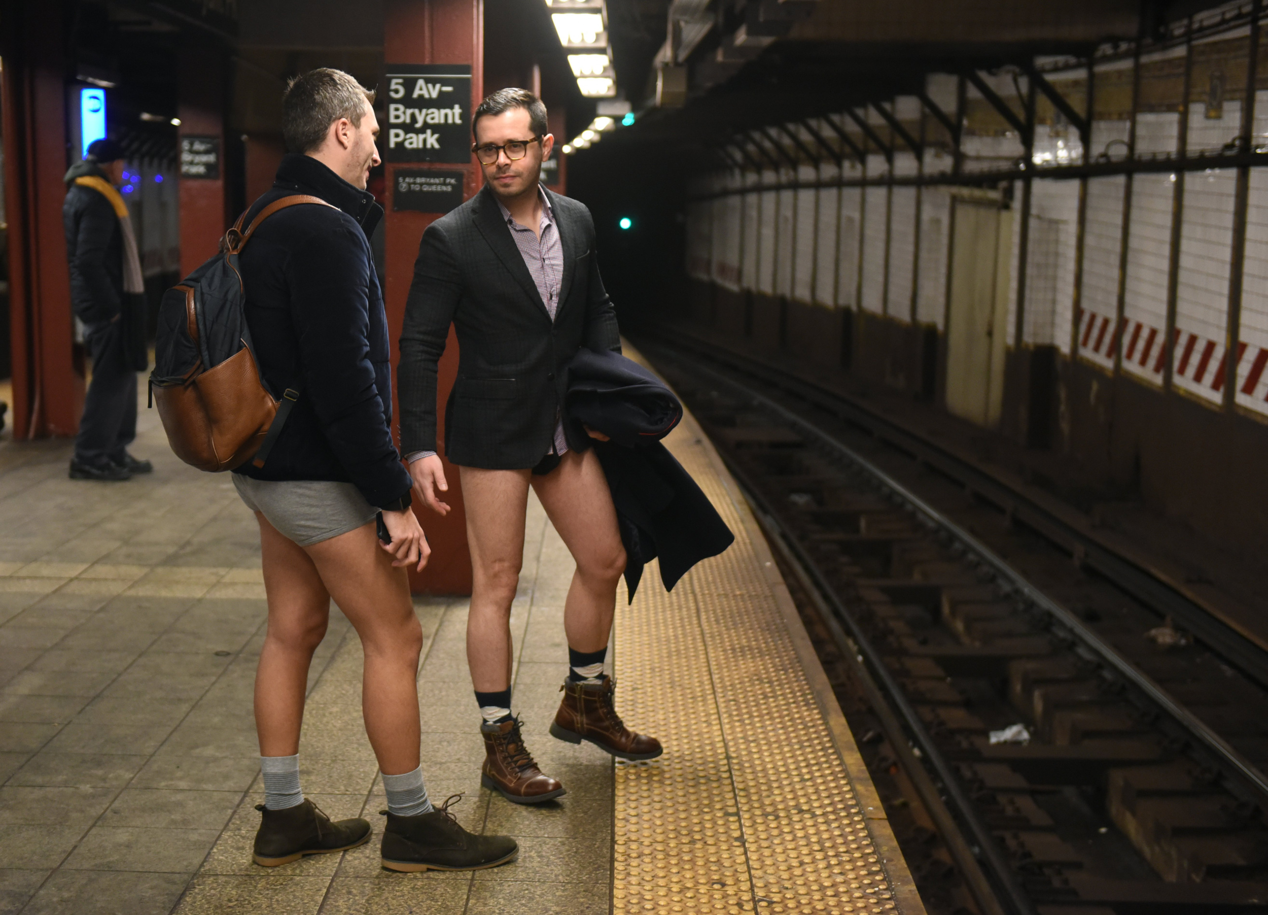 Approximately 4,000 people took part in this year's No Pants Subway Ride in New York City.