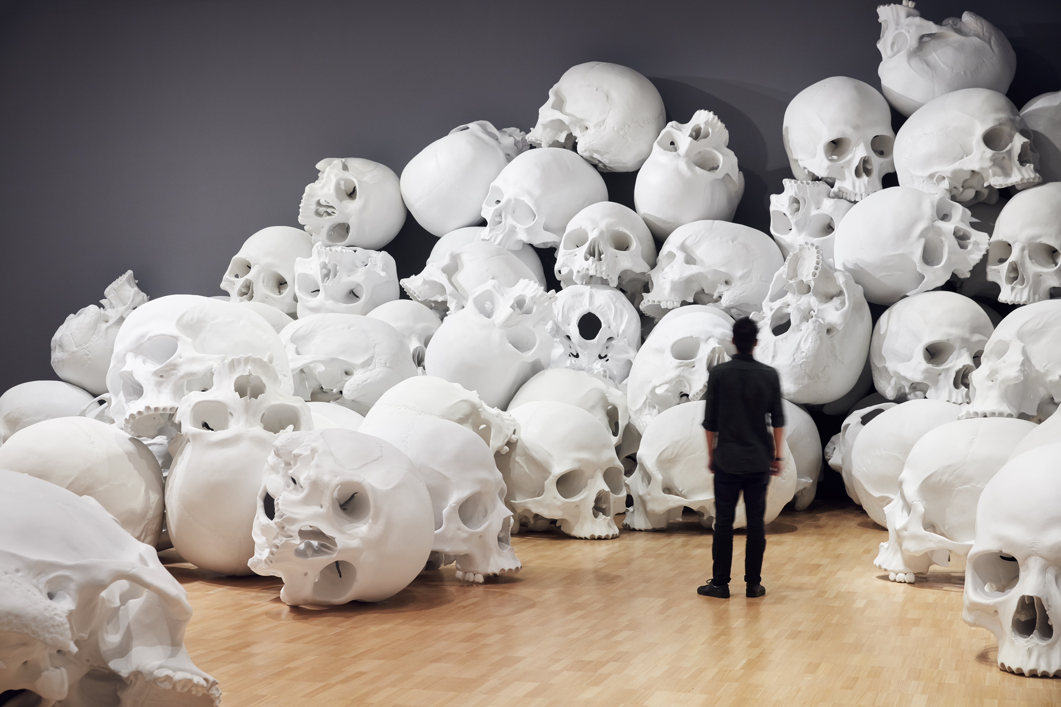 Installation view of Mass by Ron Mueck, 2017 on display at NGV Triennial at NGV International, 2017