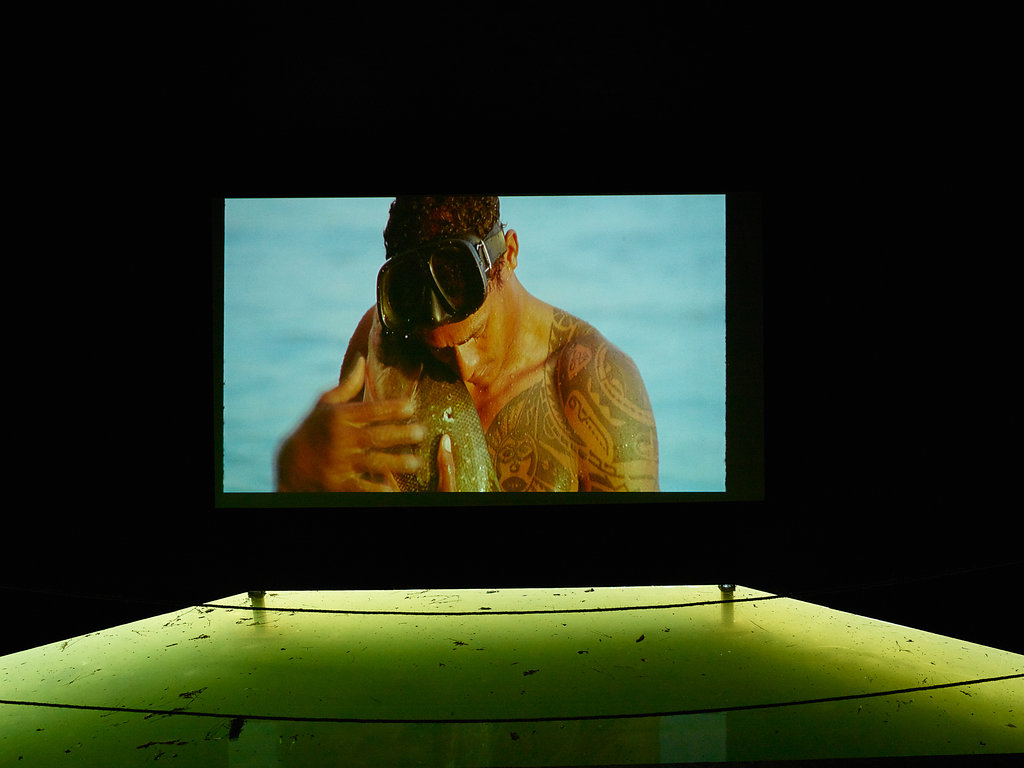 The pavilion was created to host the film O peixe by Brazilian artist Jonathas de Andrade.