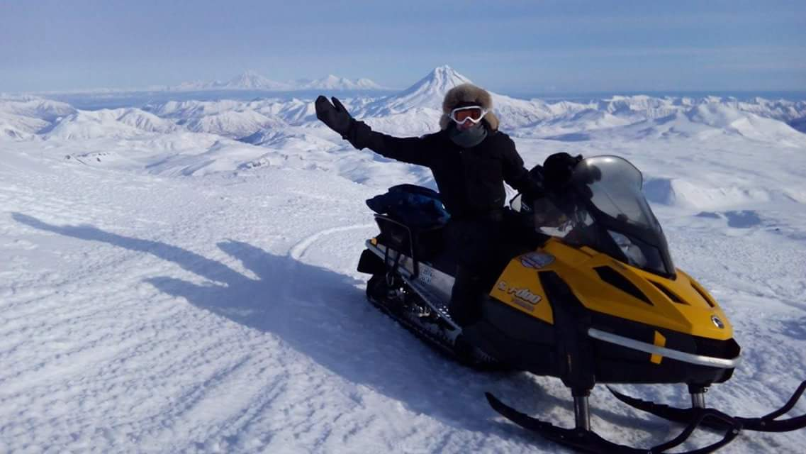 Snowmobiling in Kamchatka
