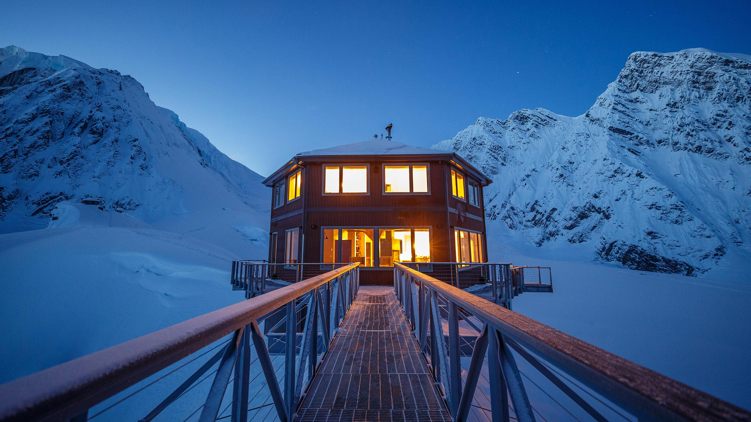 The luxury chalet comes with a dedicated staff and is only accessible via helicopter.