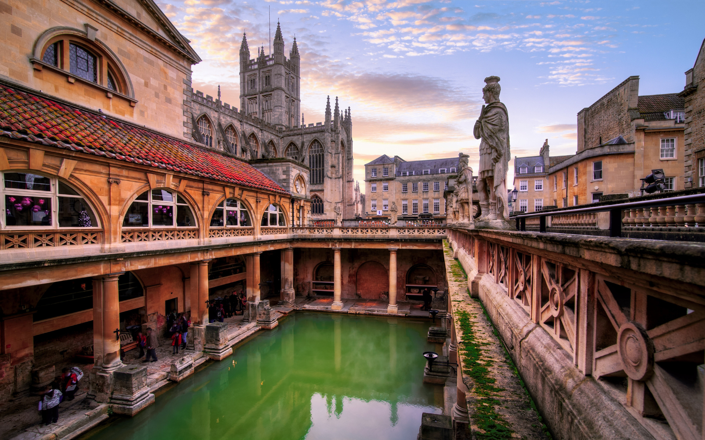 The Roman Baths, Bath, Somerset, England.