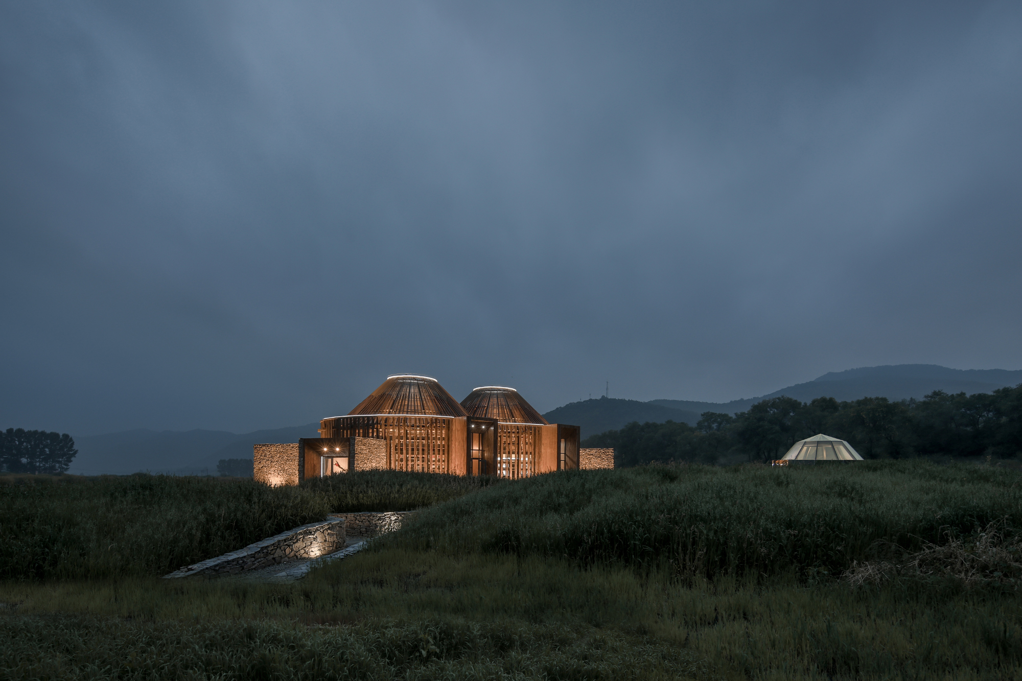 The Mulan Weichang Visitor Centre in Heibei Province.