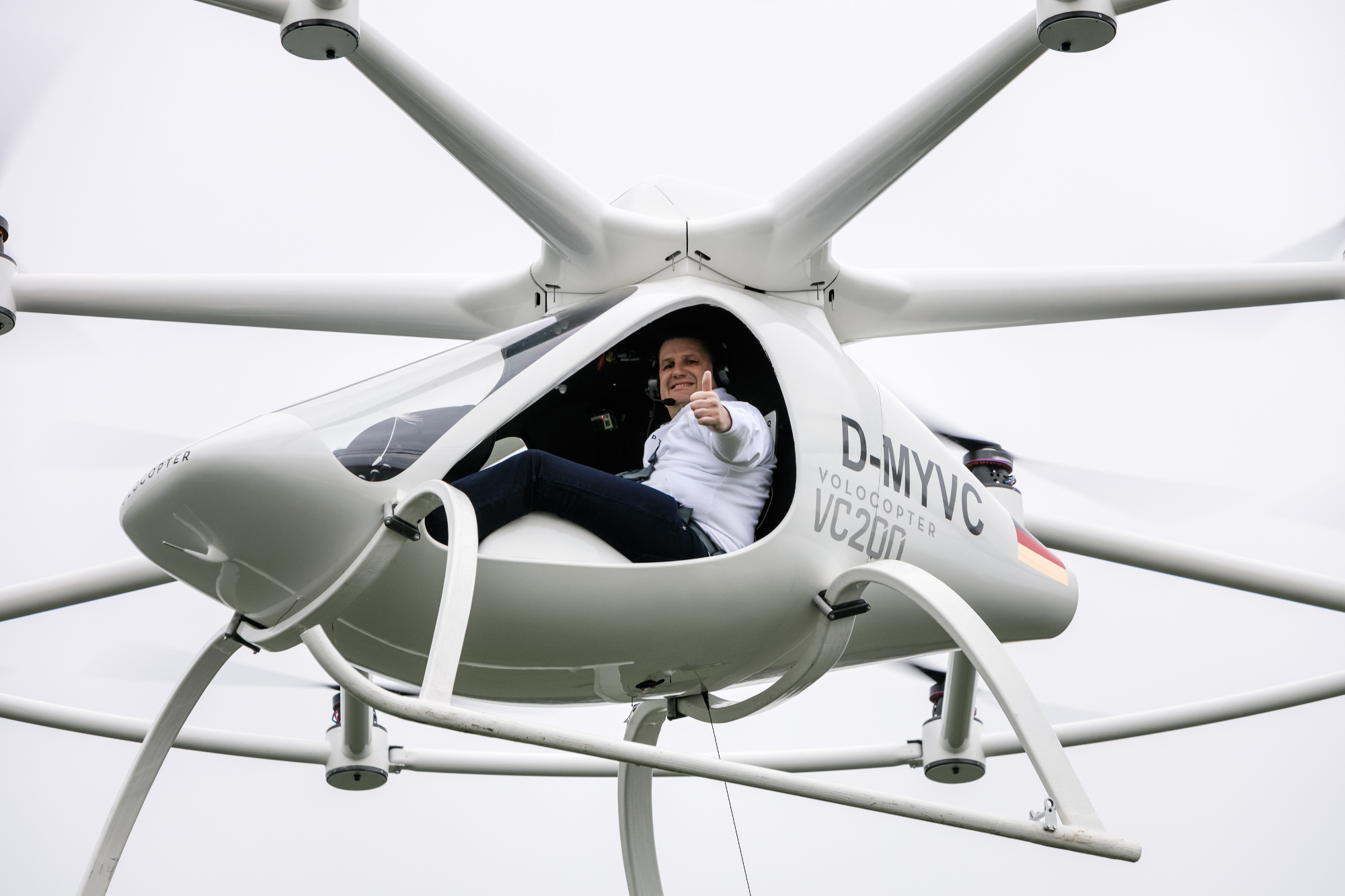 Volocopter's first manned flight
