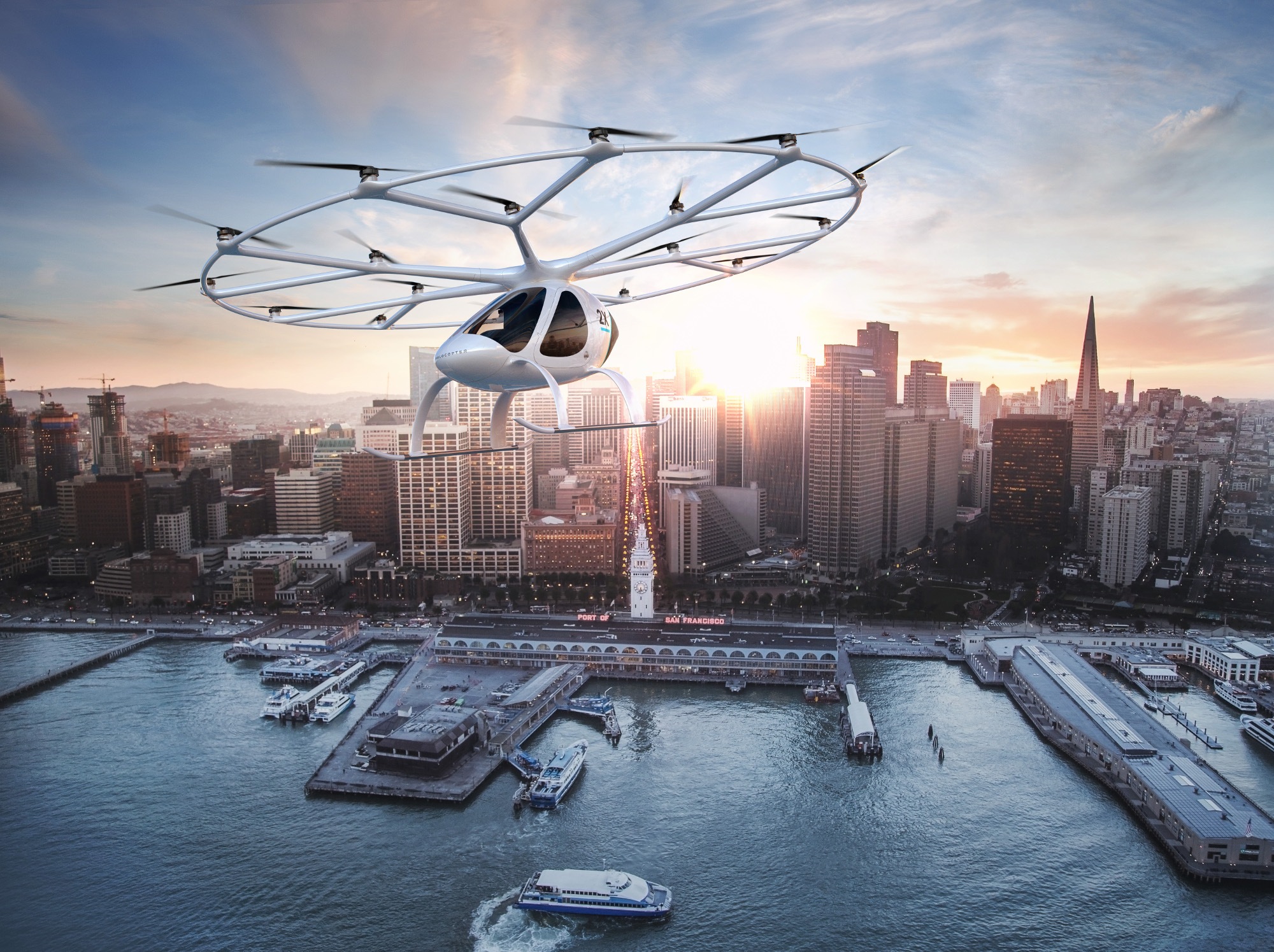 The world's first flying passenger drone