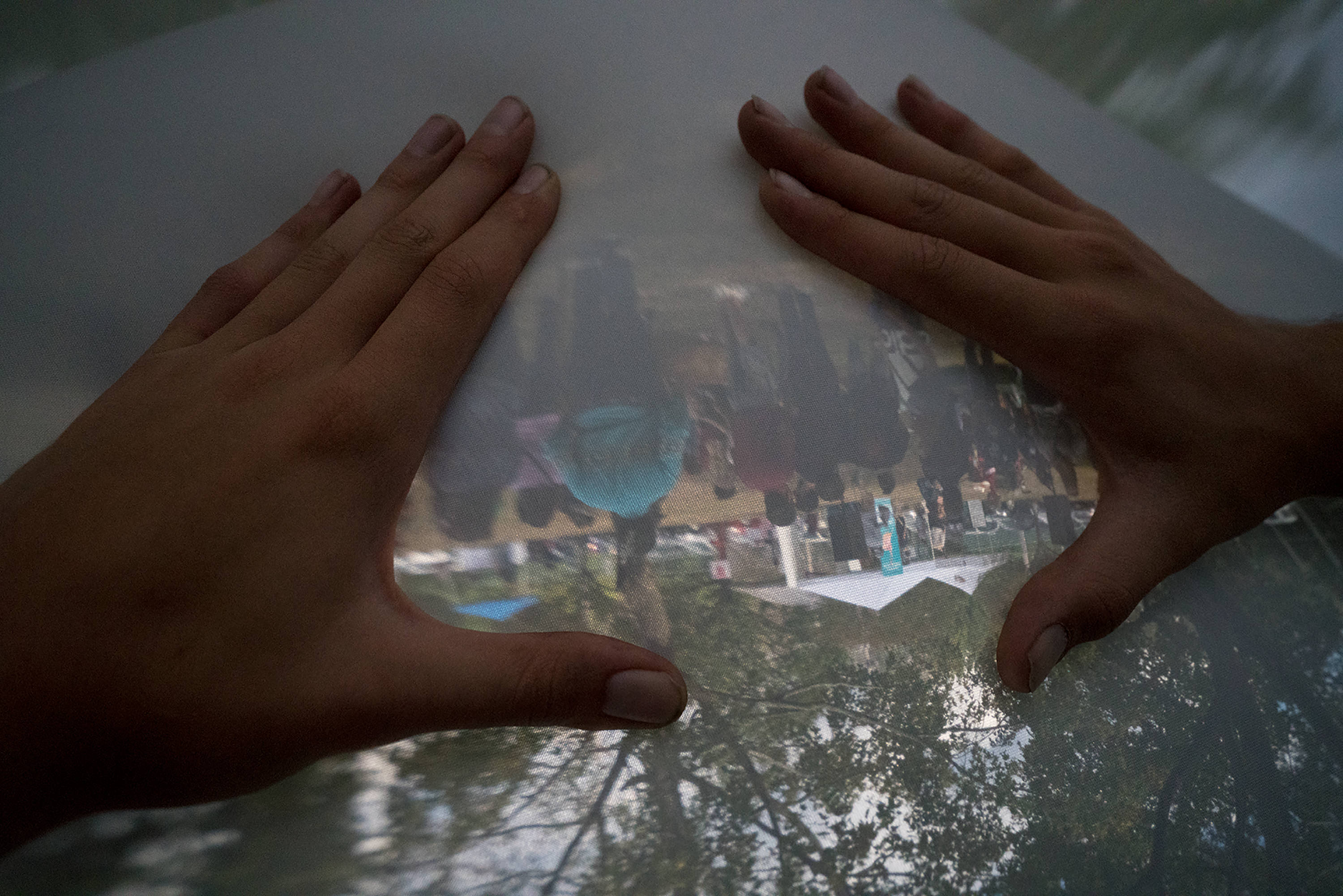 Guests can manipulate the surface and play with the properties of light inside the dome.
