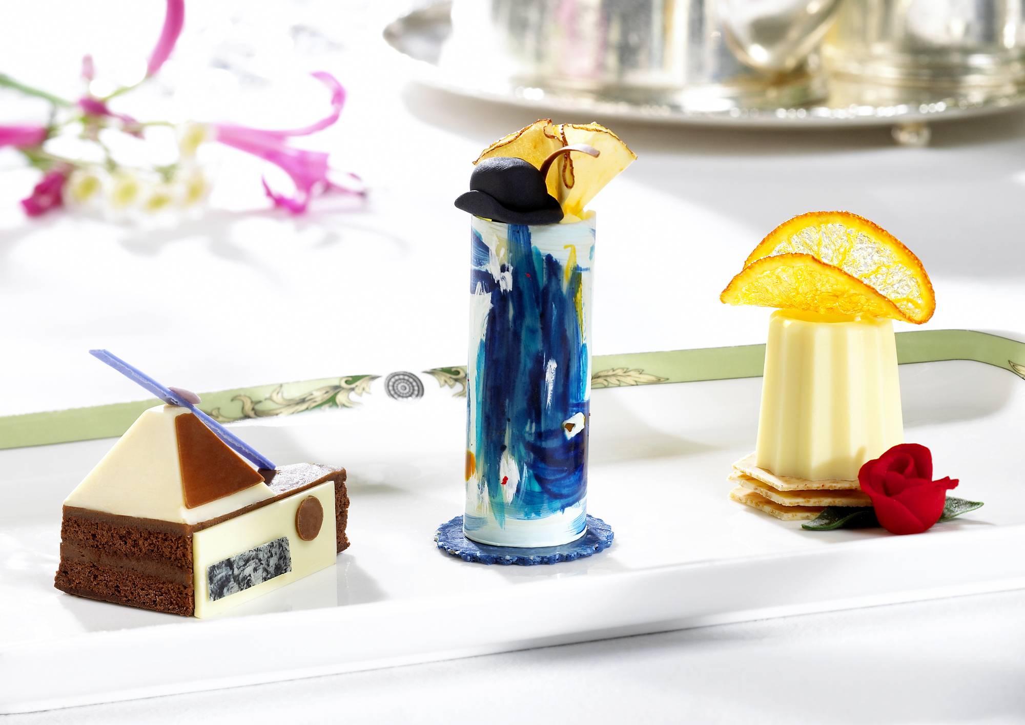 The Art Tea at The Merrion sees chefs creating colourful delights based on the hotel's private art collection.