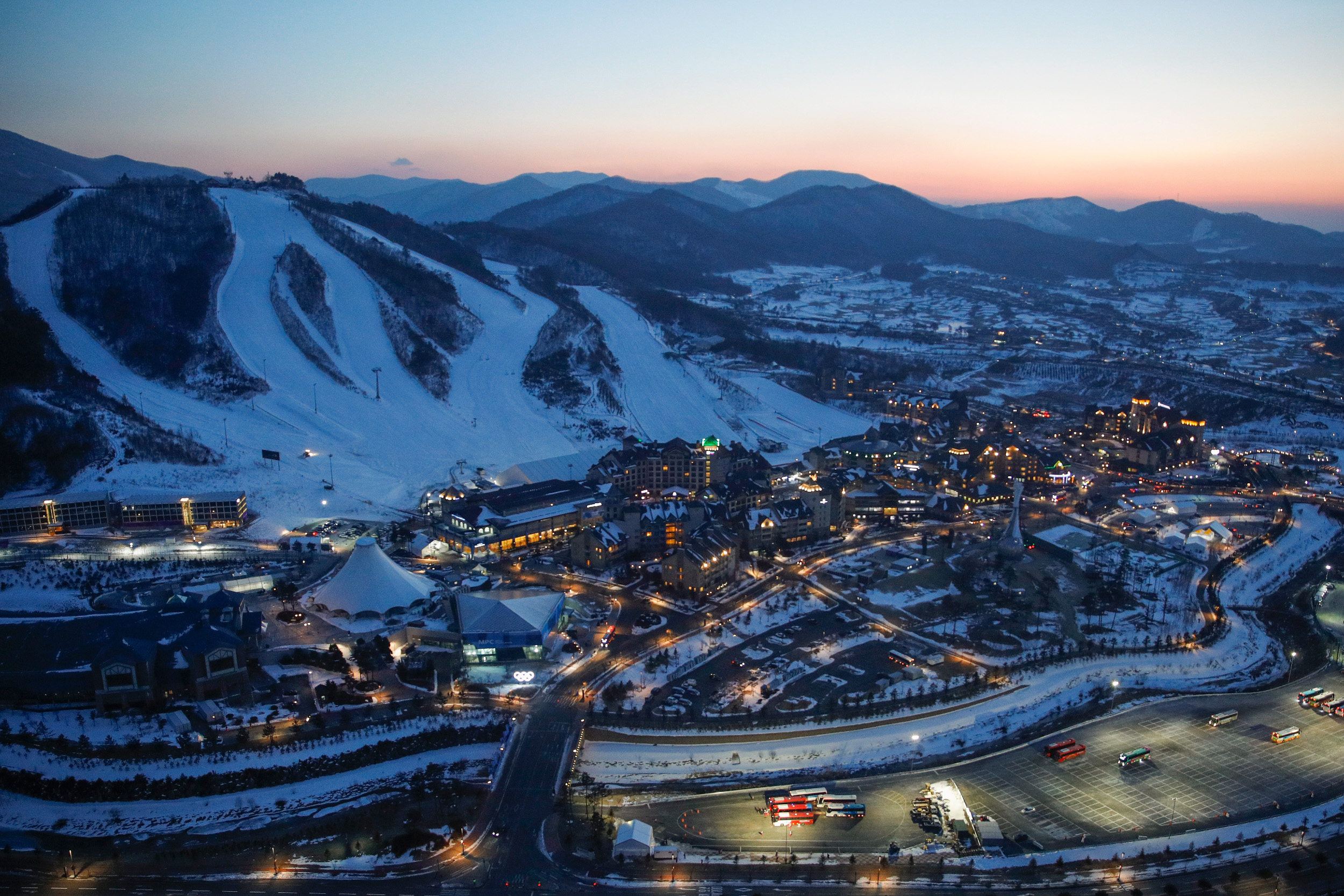 The Alpensia Complex is one of the main hubs of activity, housing the biathlon, cross-country and sliding centres.