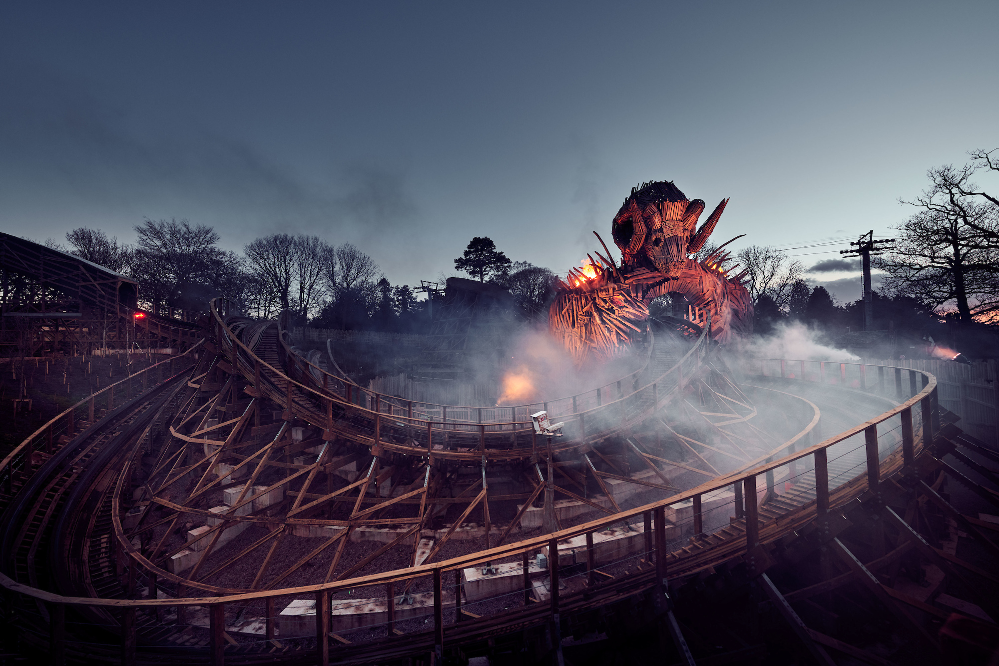 The ride is based on the 1973 horror movie starring Edward Woodward and Christopher Lee.