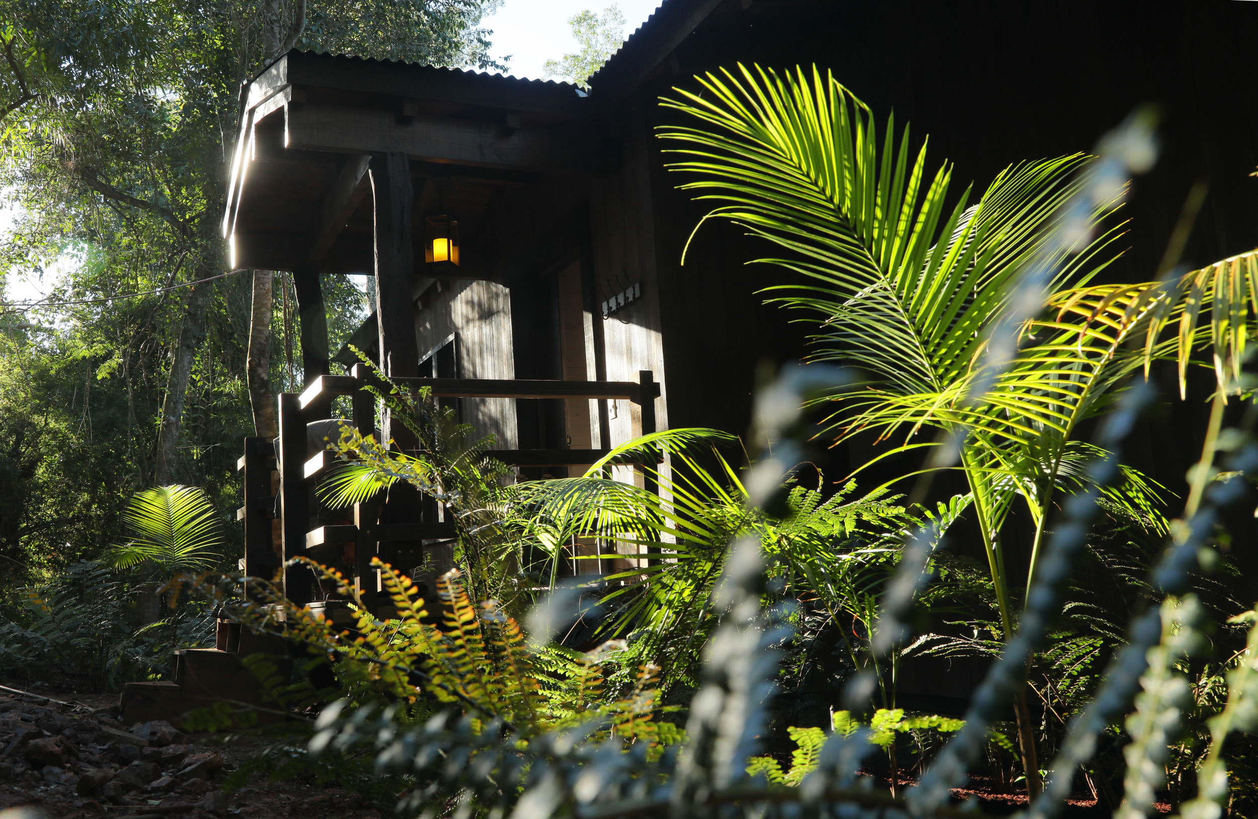 The properties are situated on the banks of the River Iguazú, surrounded by the Atlantic Rainforest.