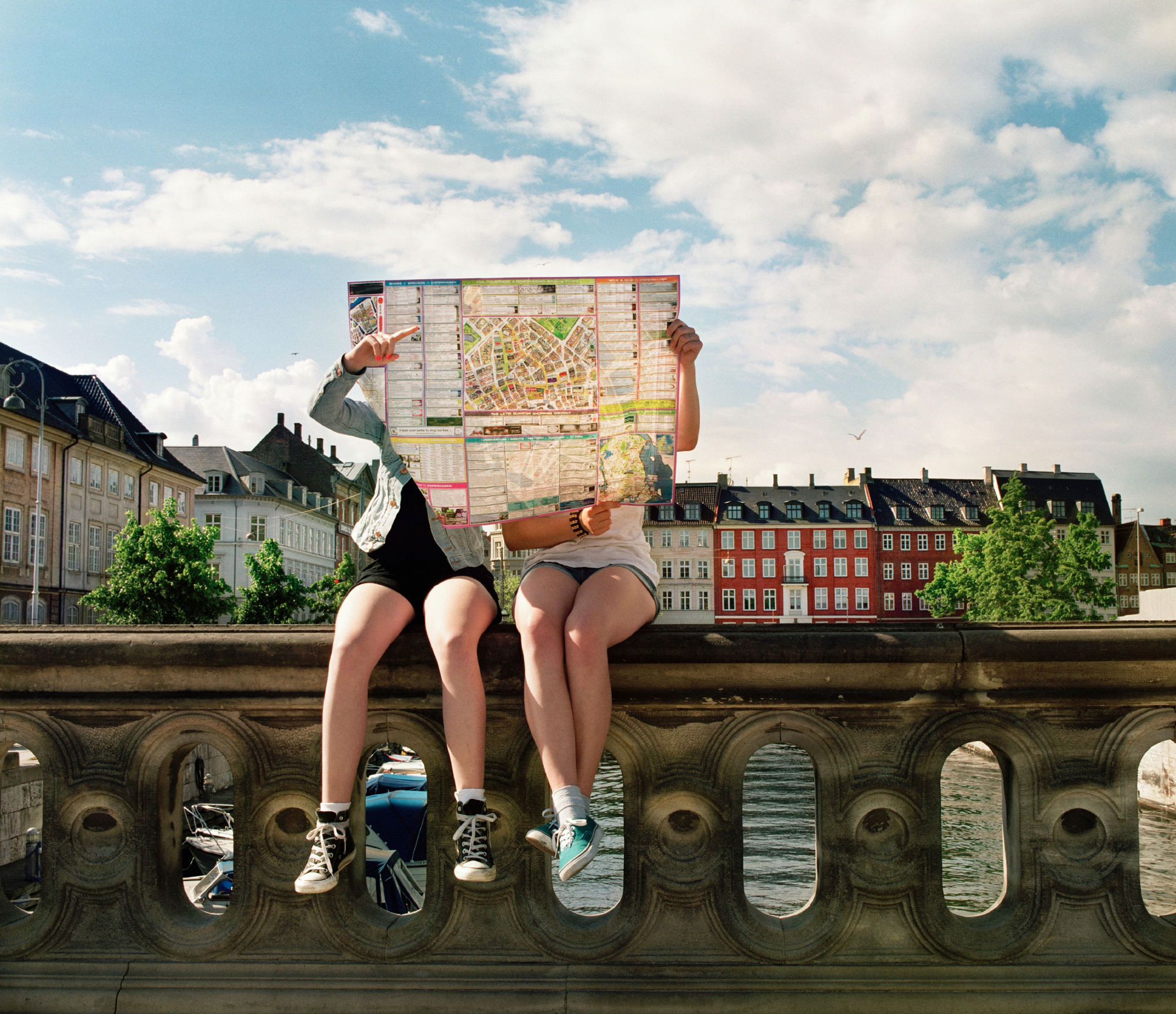 Copenhagen couple with map