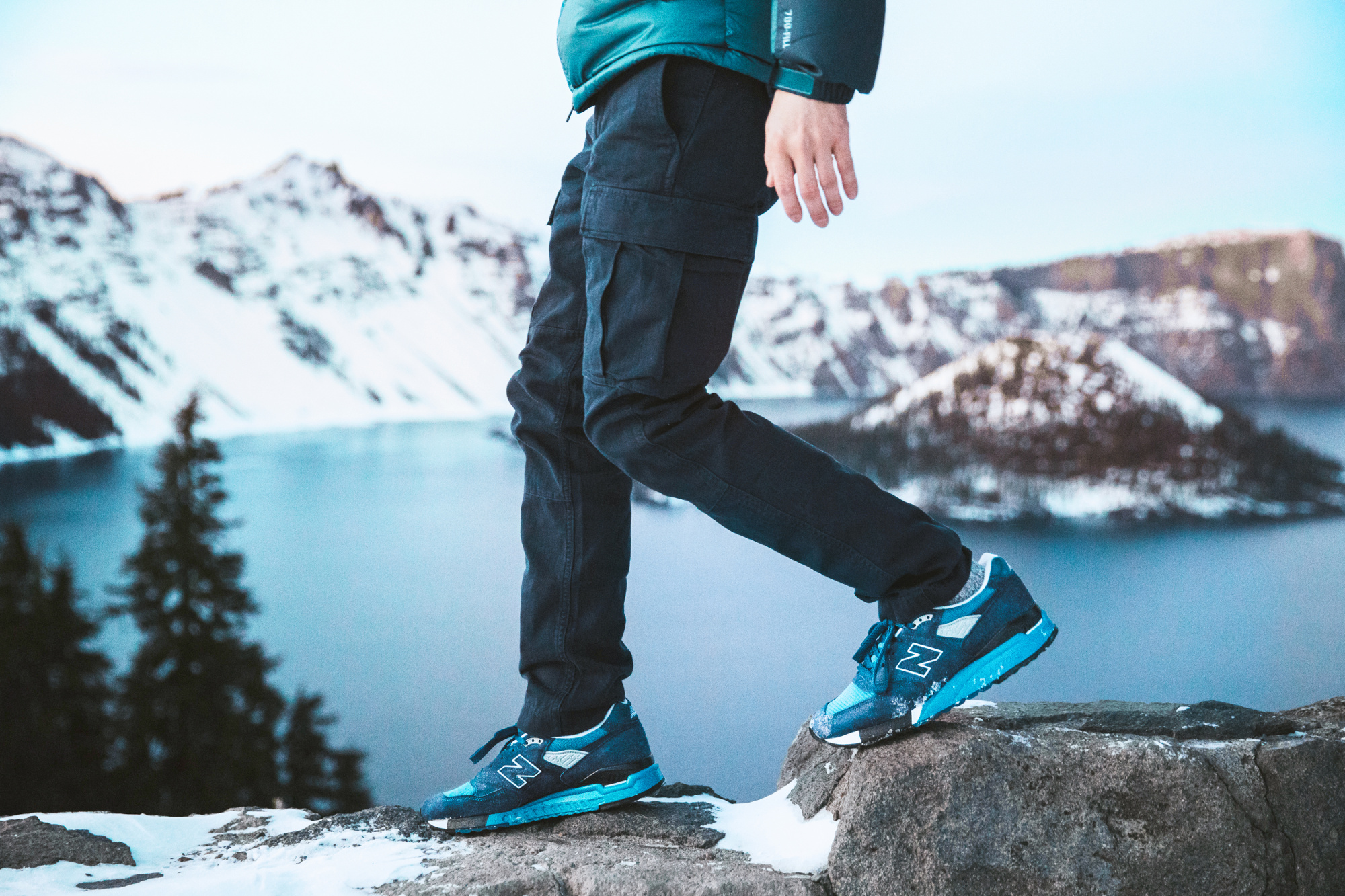 The Crater Lake National Park-inspired New Balance sneakers.