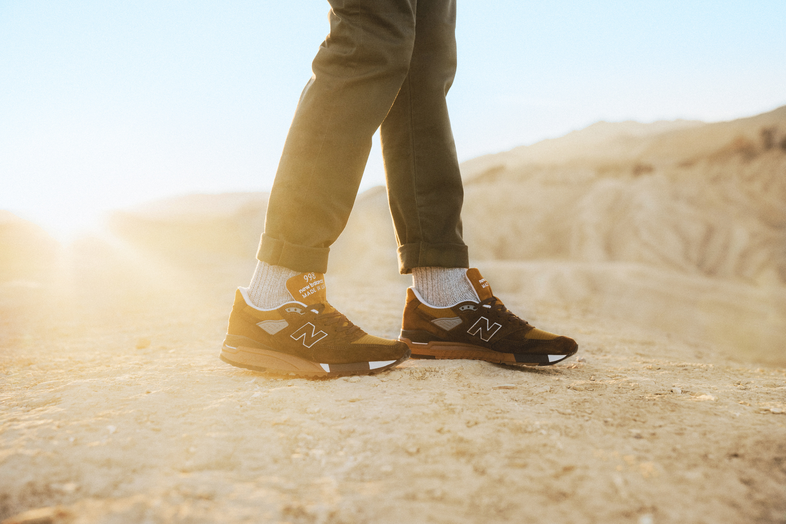 The limited edition Death Valley-inspired New Balance sneakers.