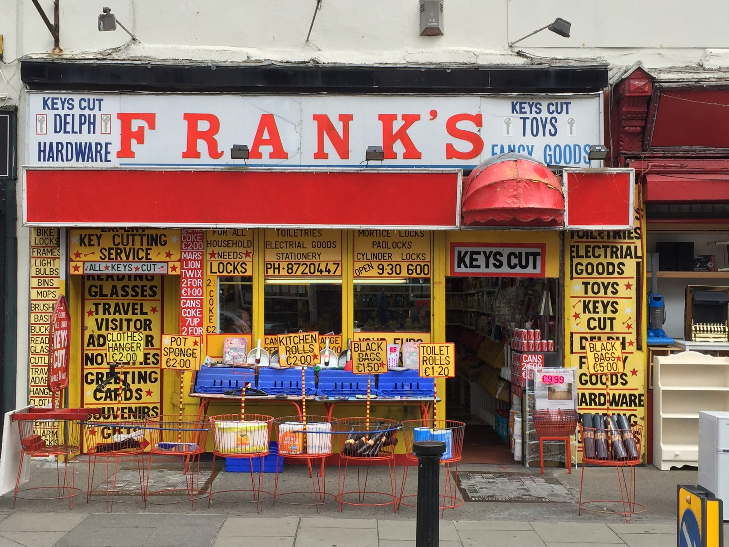 Frank's Fancy Goods, 18 Frederick Street in Dublin.