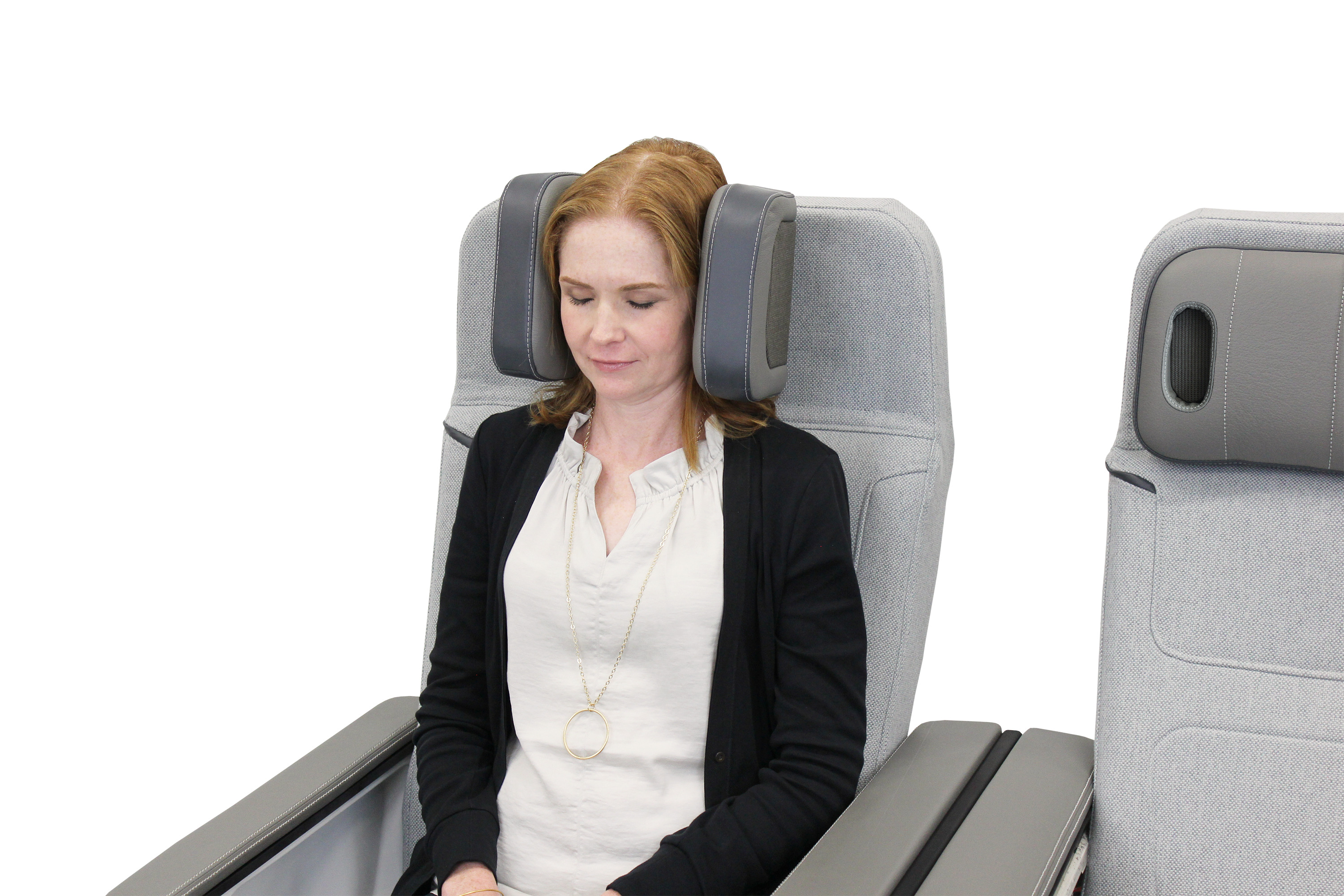 Haeco's noise cancelling headrests that wrap around the ears.