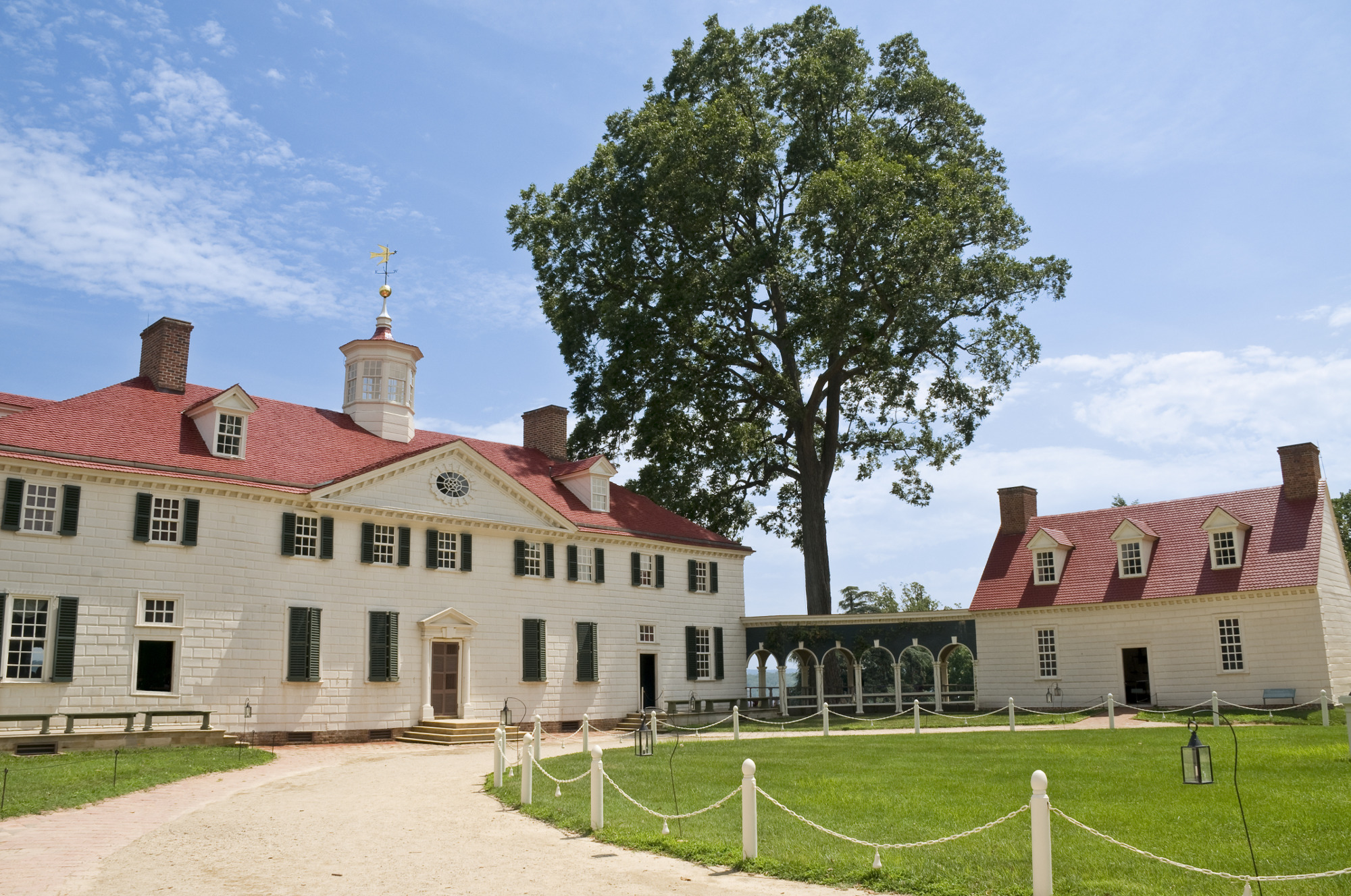 The Mount Vernon home of George Washington