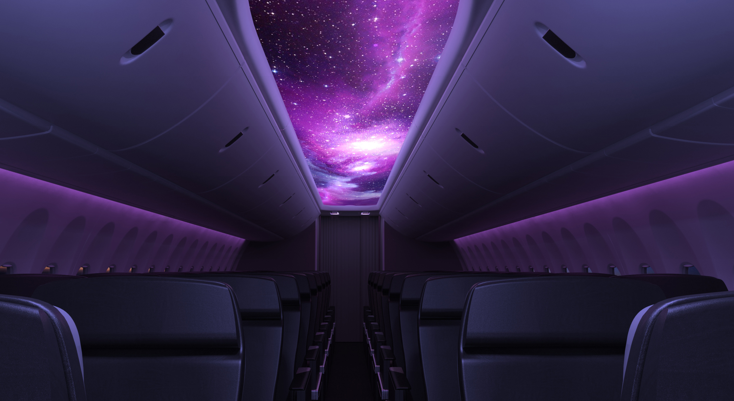 The Secant Luminous Panel by Rockwell Collins sees special lighting being installed in the interior paneling of aircrafts to display visuals and help improve sleep.