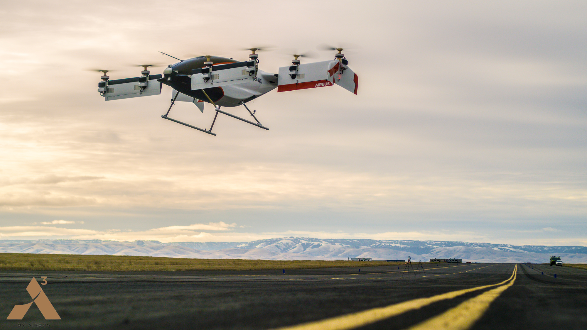 The sel-piloting air taxi takes to the skies