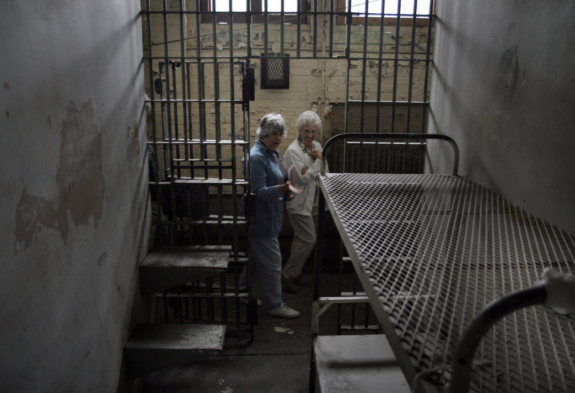 Holding cell at Lorton