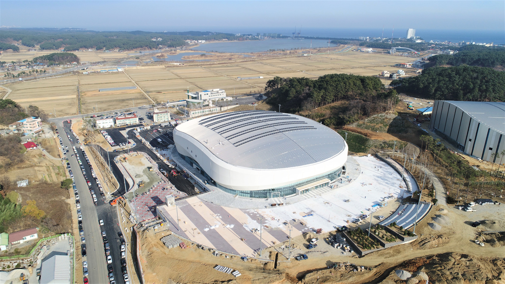 The Gangneung Ice Centre.