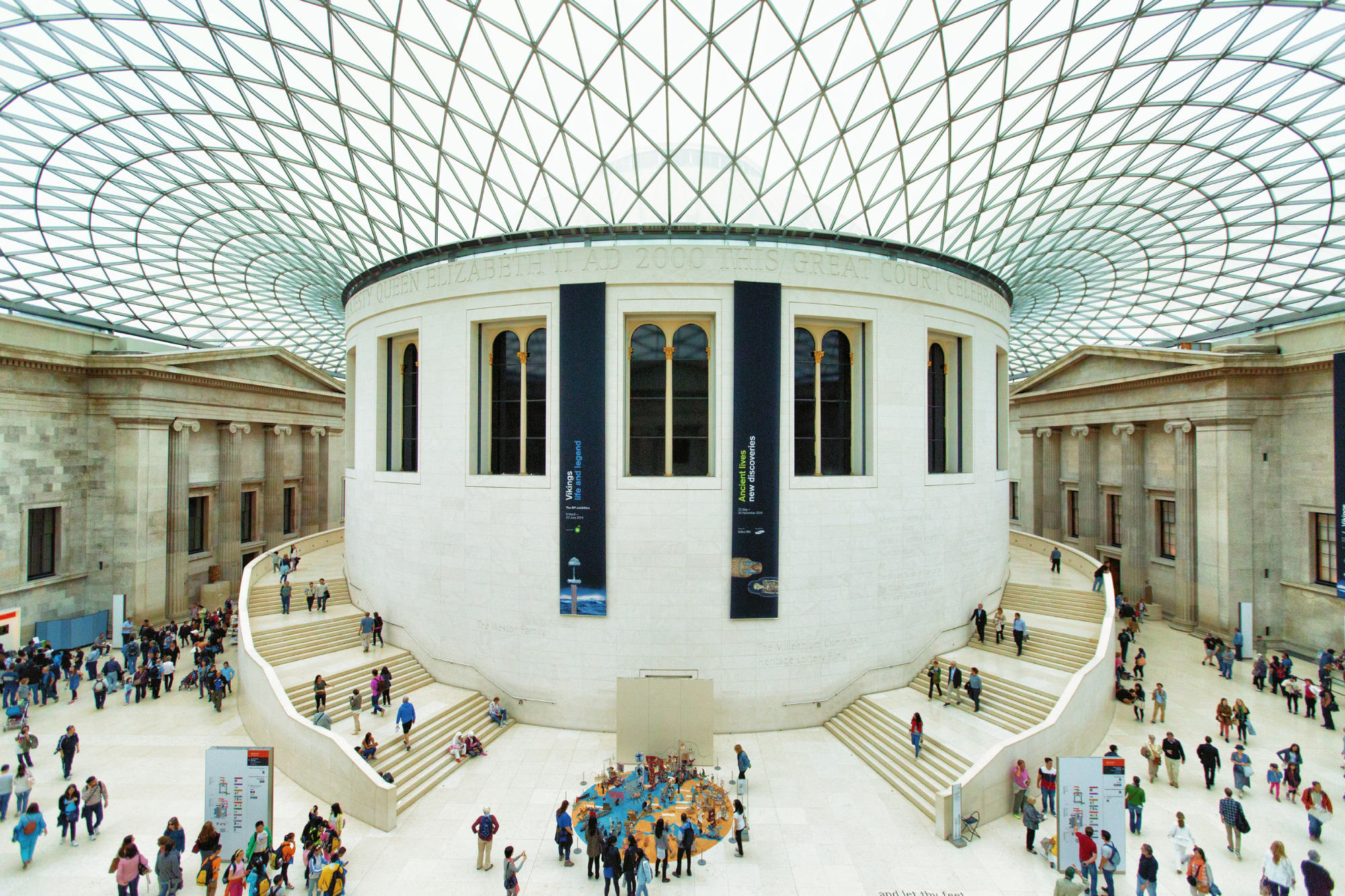 The interior of the British Museum in London.