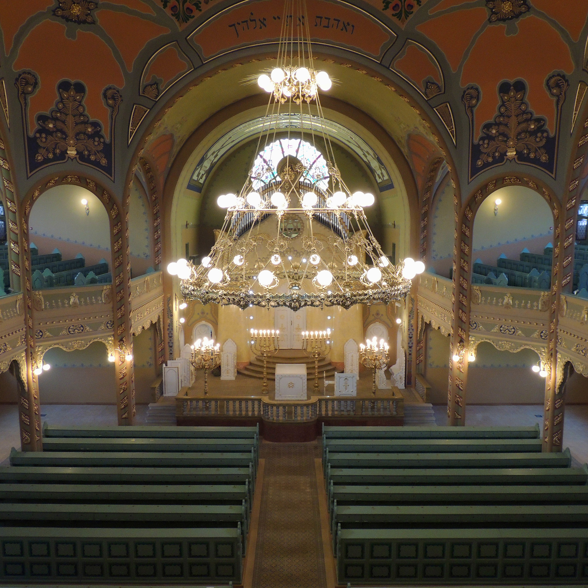 Inside the Subotica synagogue
