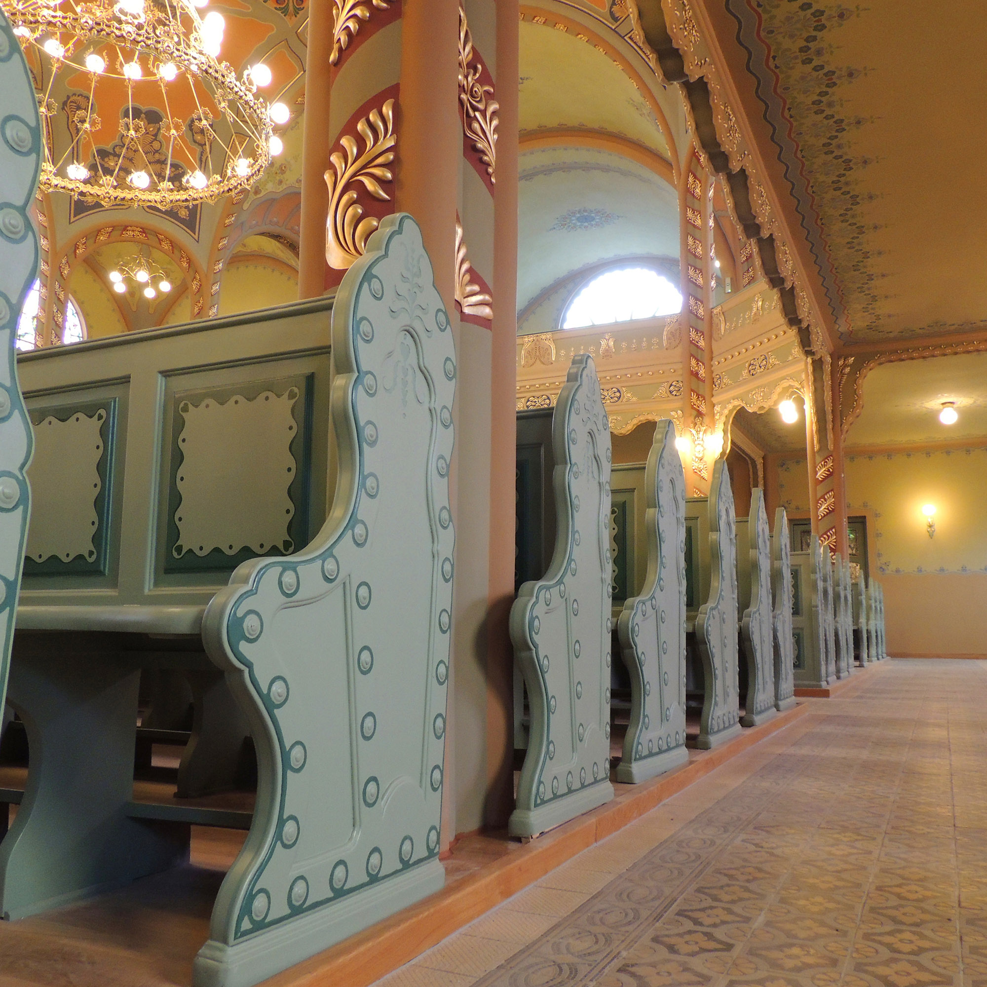 Interior of the Subotica synagogue