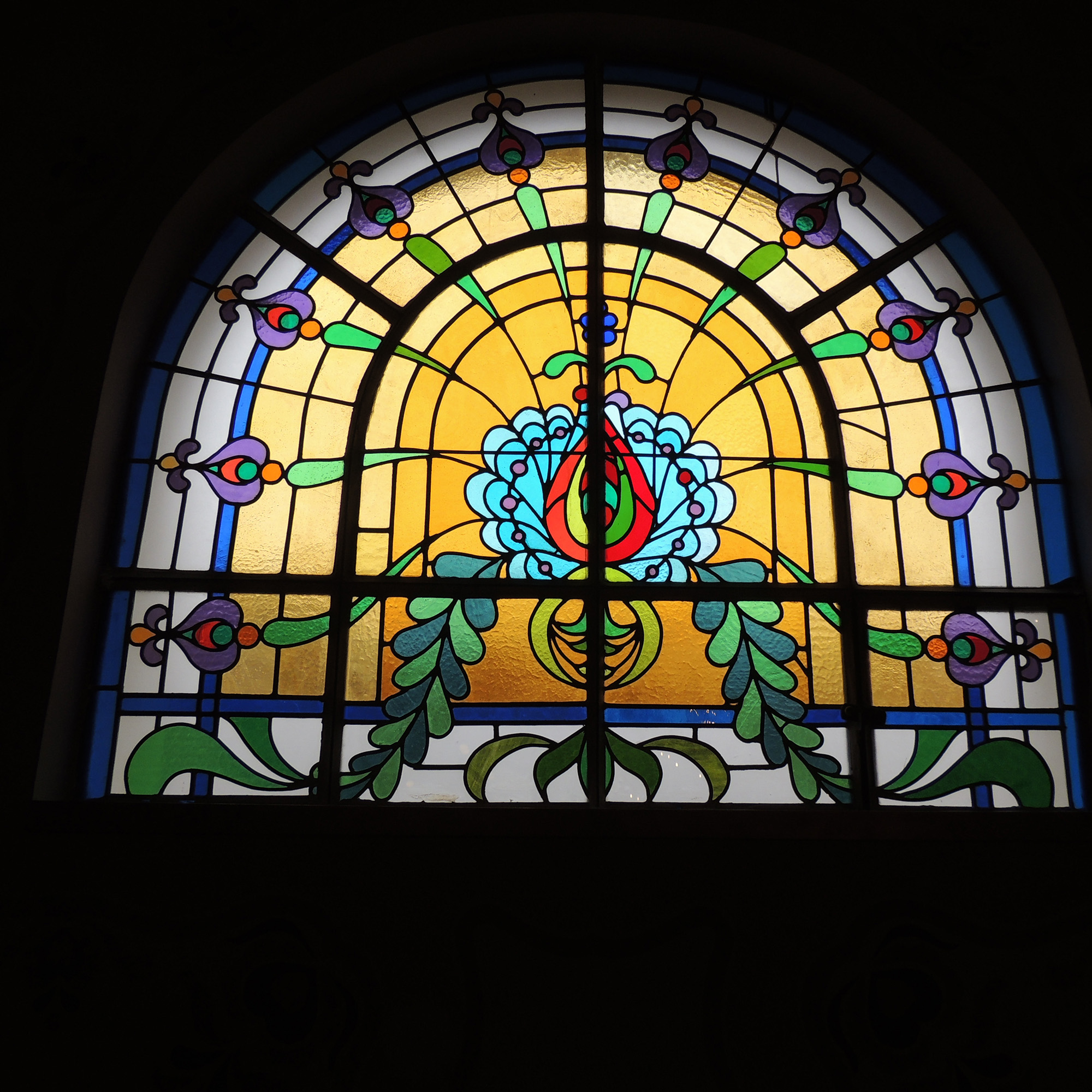 Subotica stained glass detail