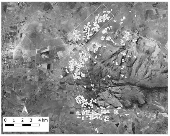 LiDAR image of the ancient settlement