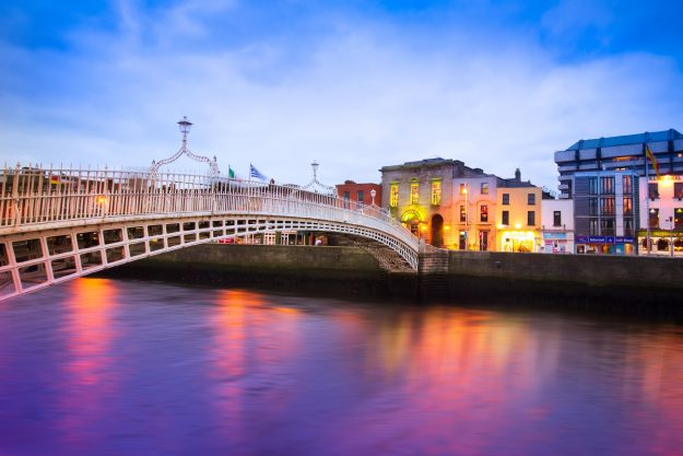 The historic Ha'penny Bridge
