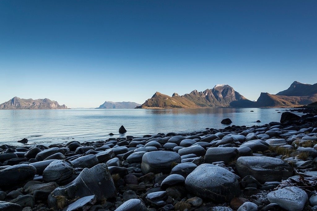The rest area provides stunning views of the fjord and the mountains in the region.
